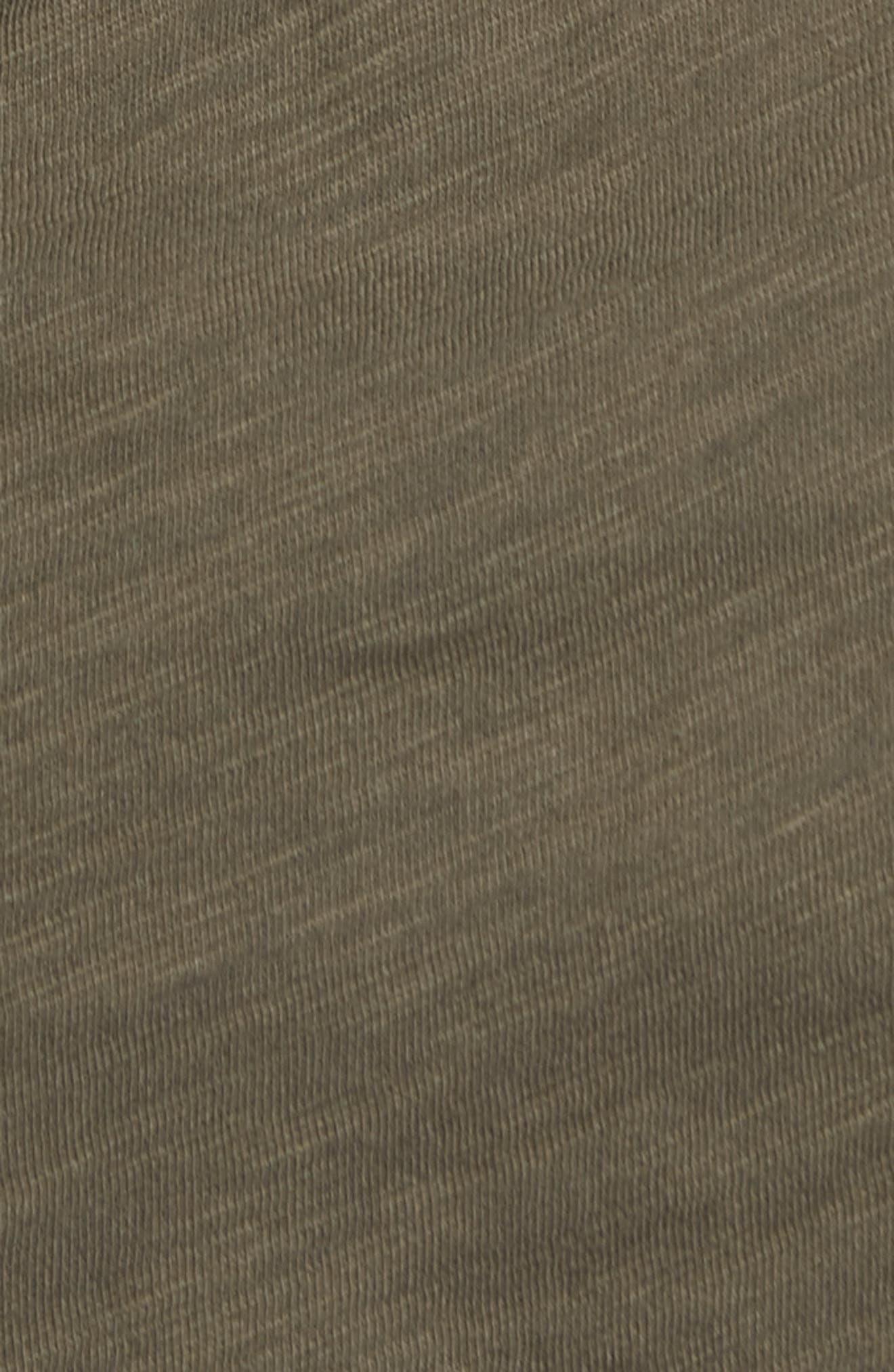 Whisper Cotton V-Neck Pocket Tee,                             Alternate thumbnail 6, color,                             Cargo Green