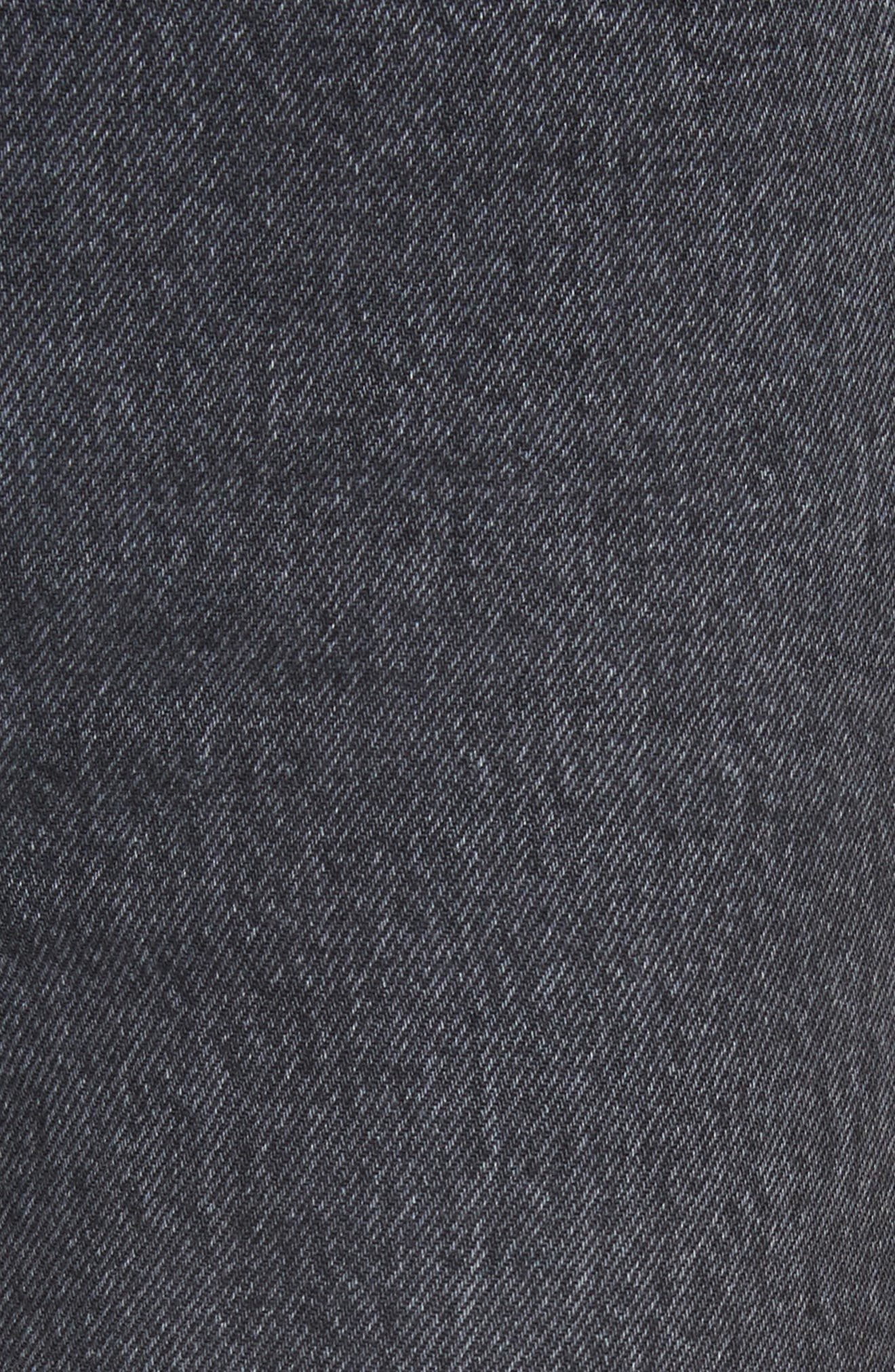 Dylan High Waist Crop Kick Flare Jeans,                             Alternate thumbnail 5, color,                             Grey Kuro