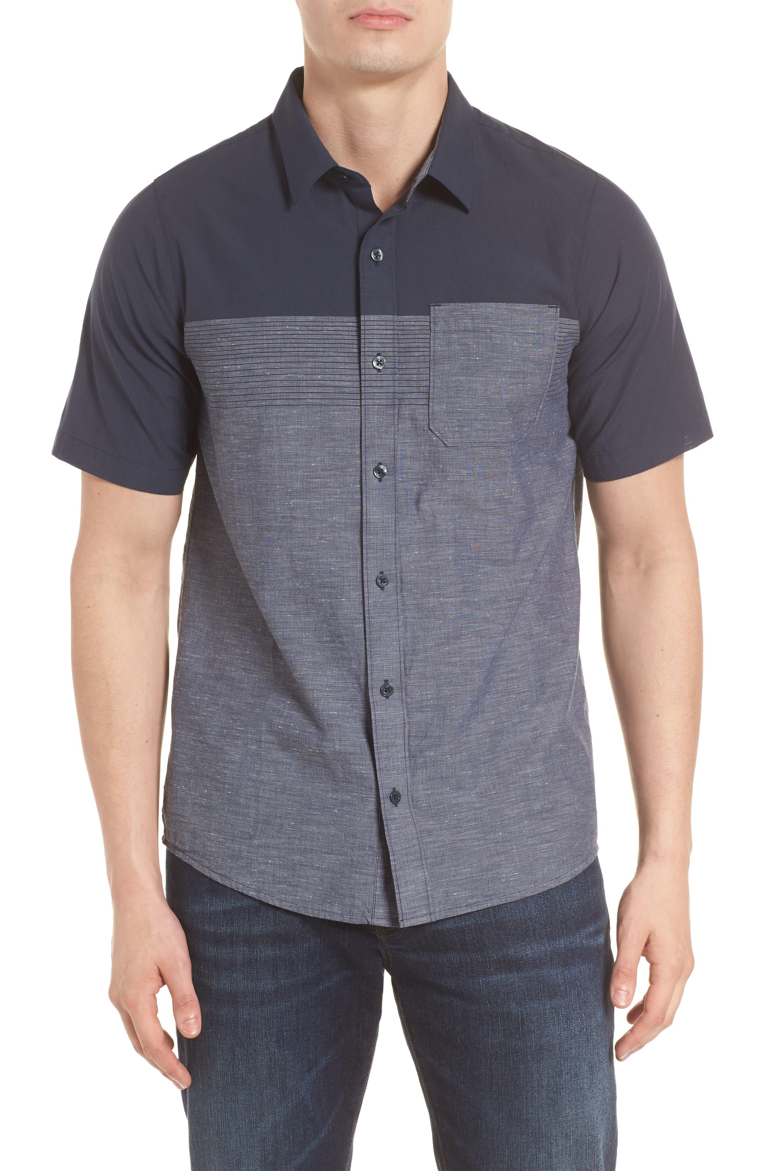 Travis Mathew Charlie Pinstripe Woven Shirt