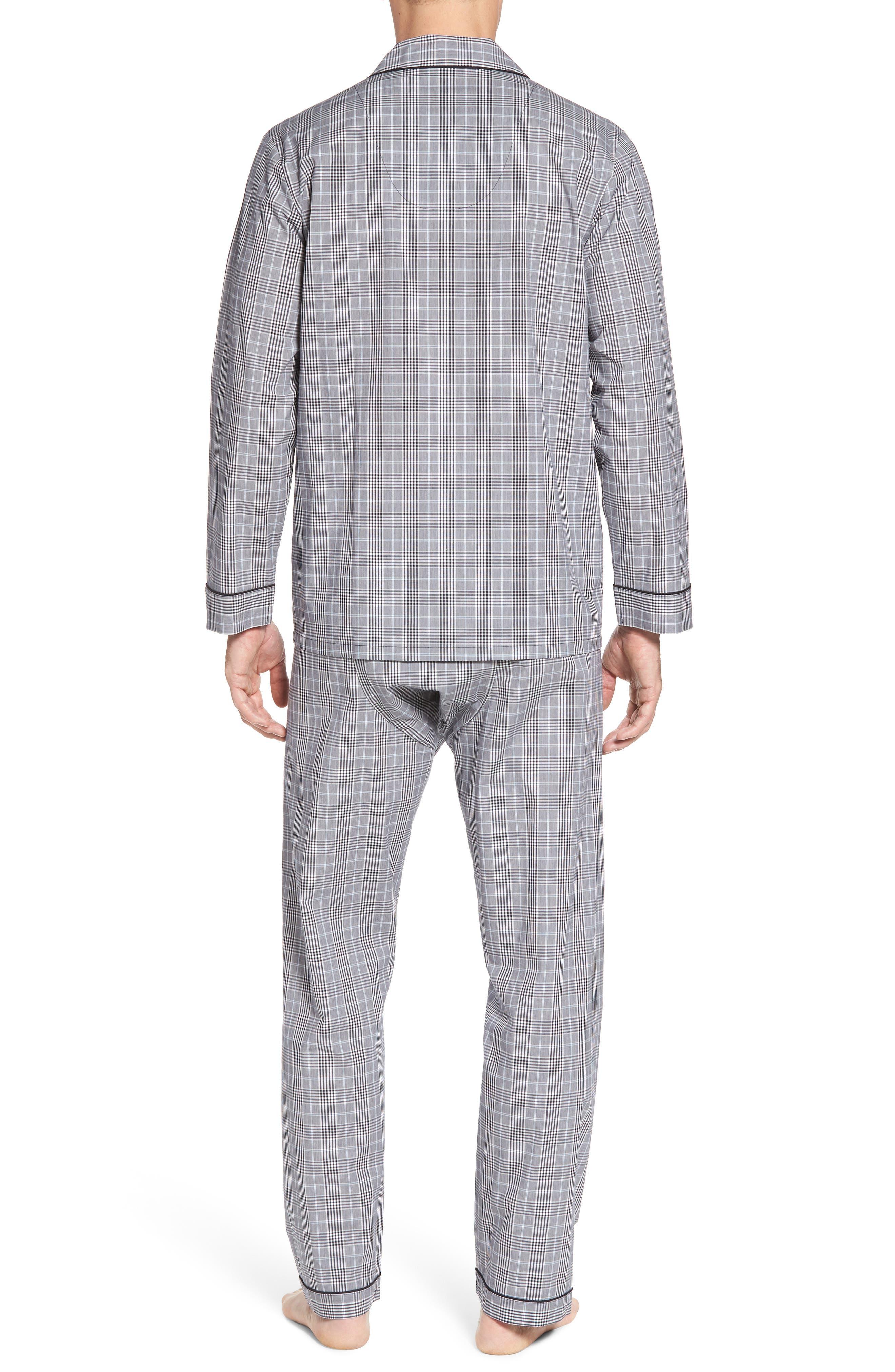 Charleston Pajama Set,                             Alternate thumbnail 2, color,                             Black Plaid