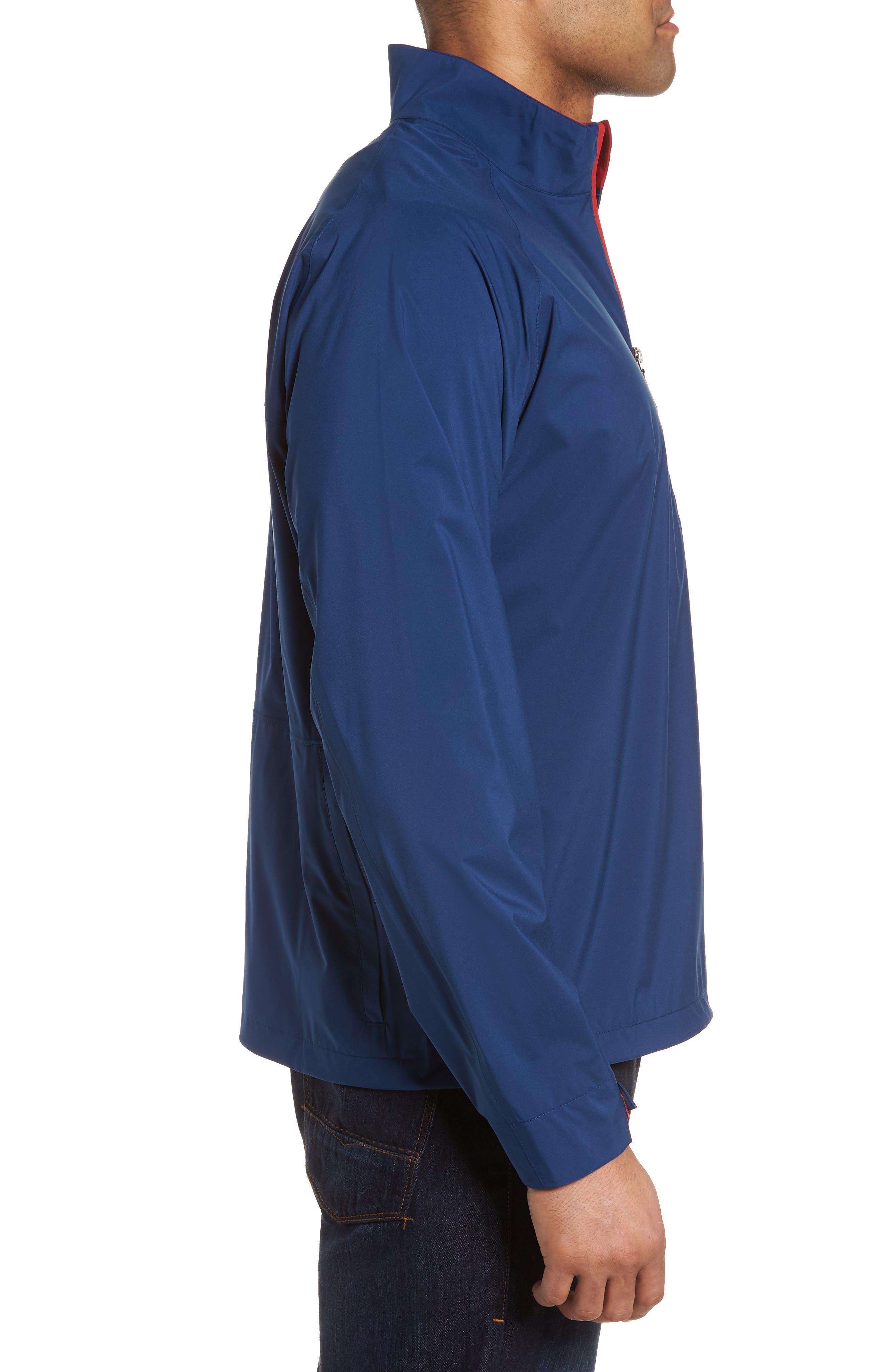 Regular Fit Half Zip Performance Pullover,                             Alternate thumbnail 3, color,                             Navy