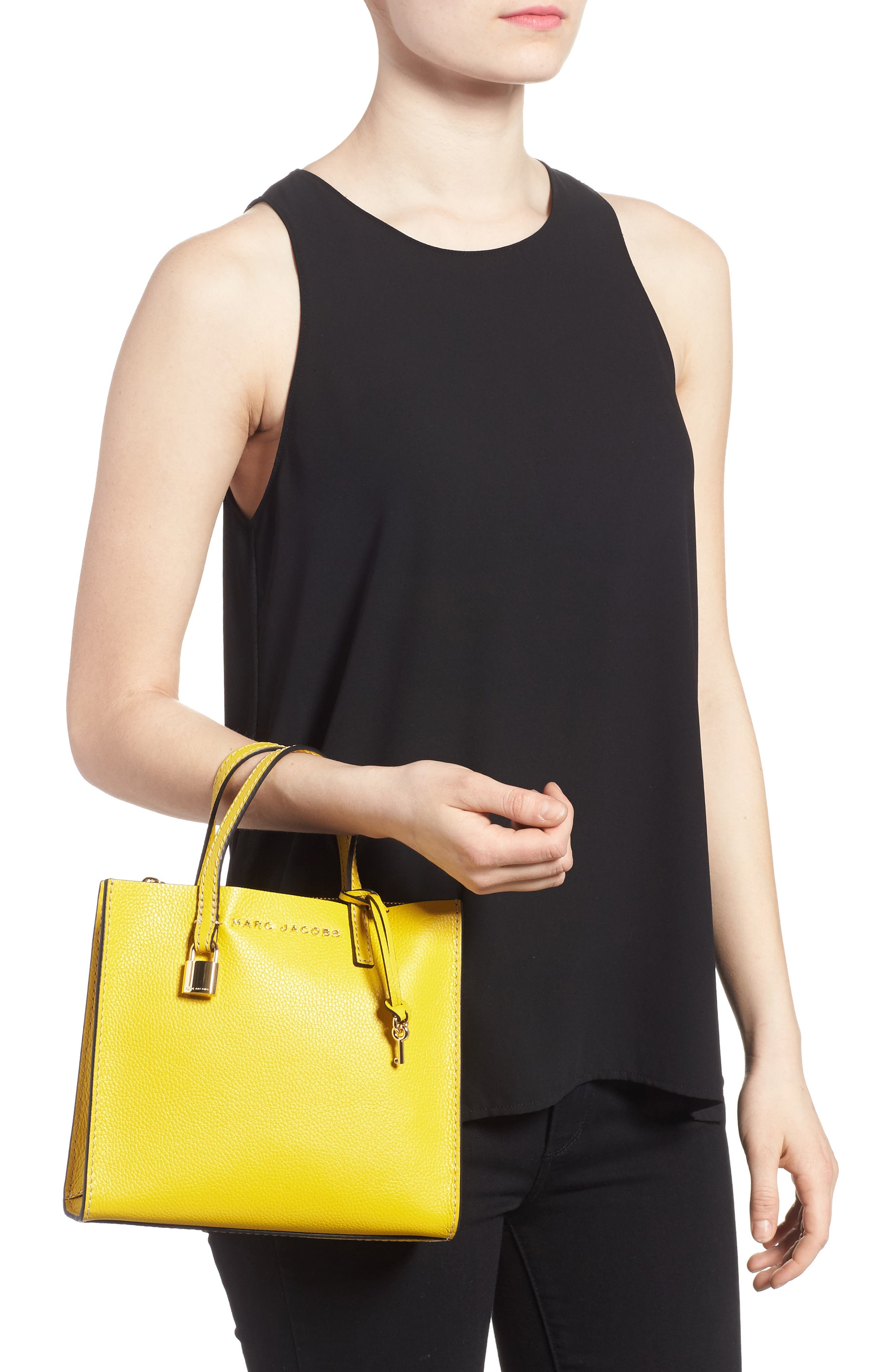 Alternate Image 2  - MARC JACOBS The Grind Mini Colorblock Leather Tote