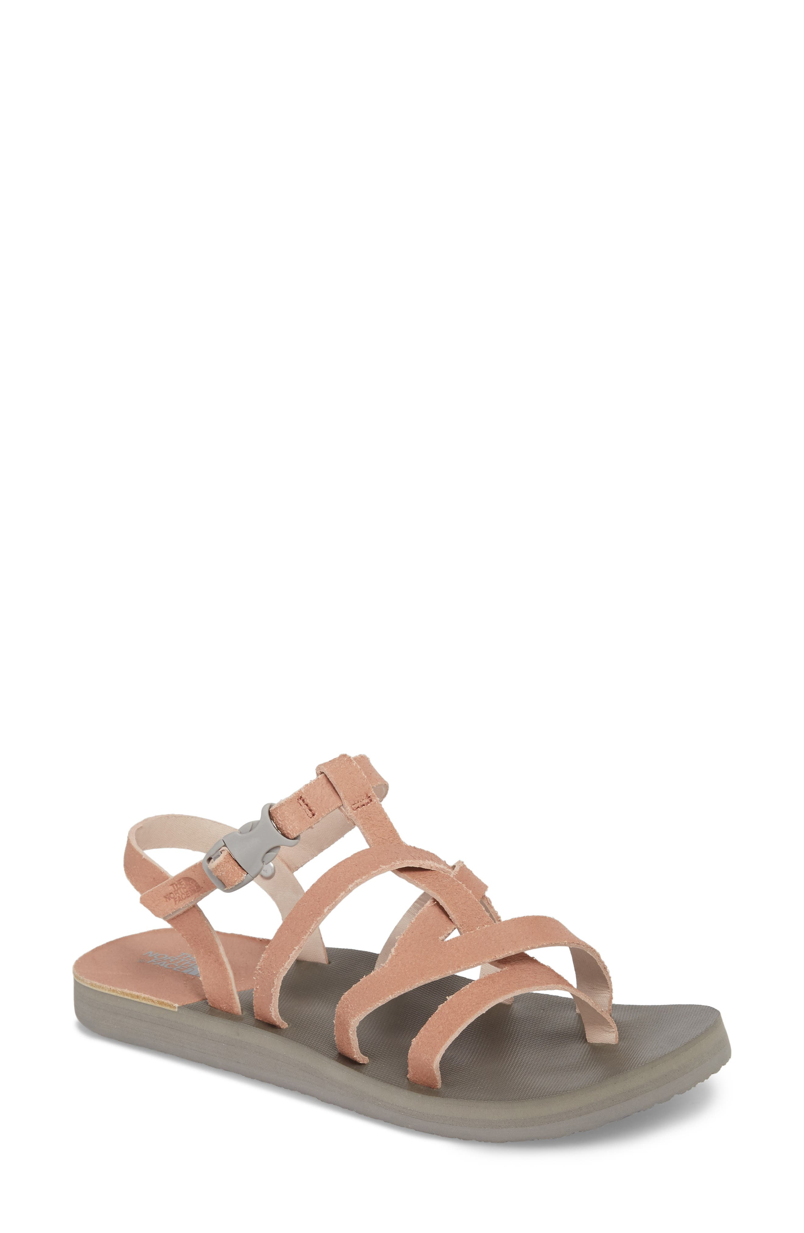 Base Camp Plus II Gladiator Sandal,                             Main thumbnail 1, color,                             Evening Sand Pink/ Foil Grey