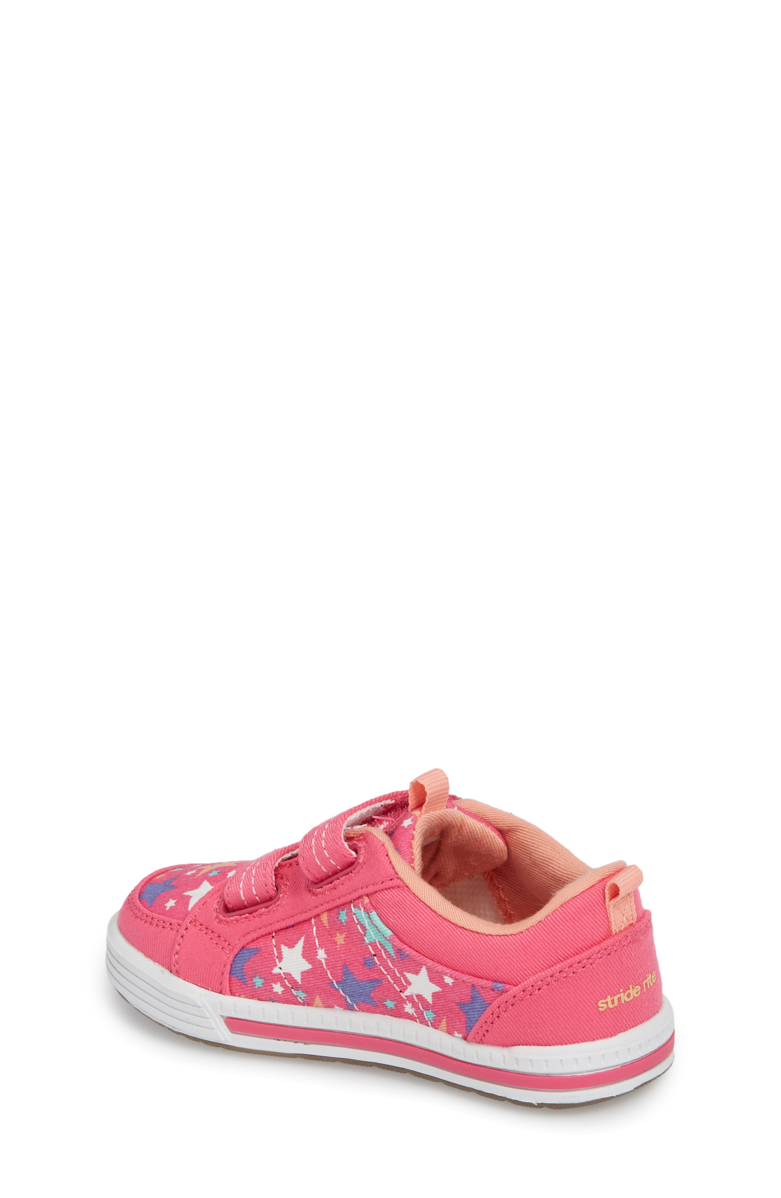 Logan Patterned Sneaker,                             Alternate thumbnail 2, color,                             Pink Star