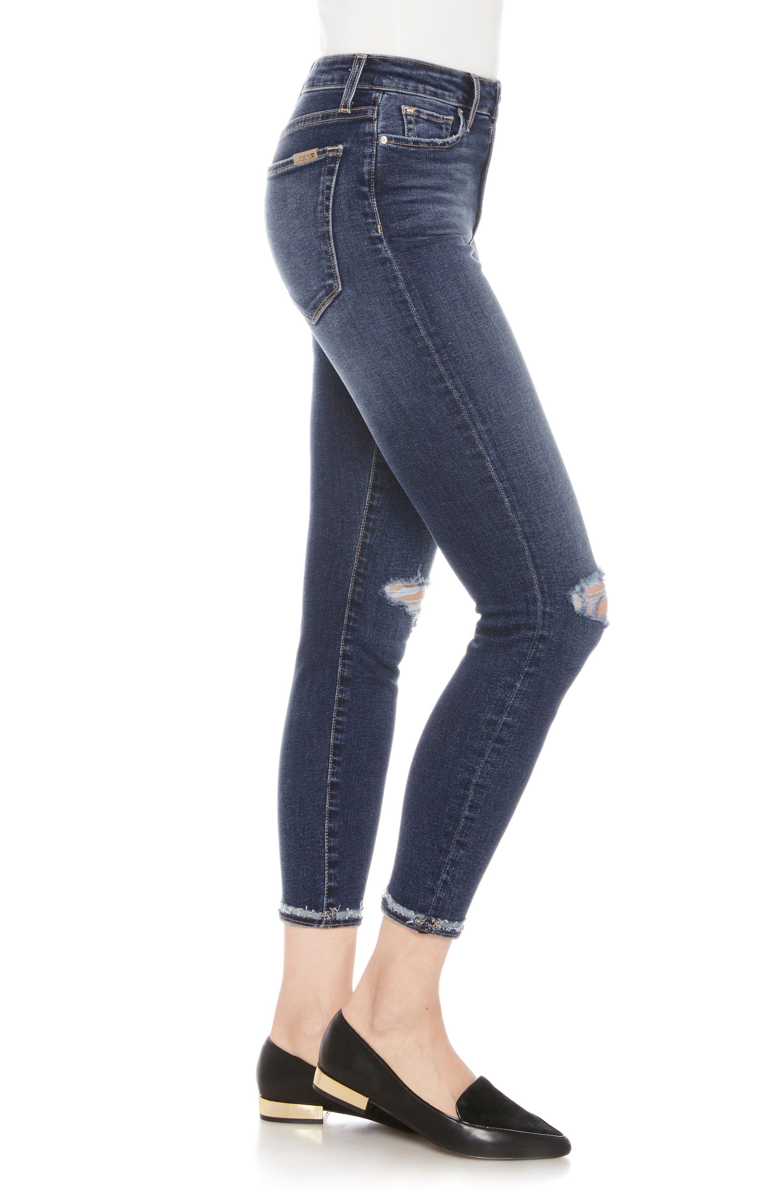 Flawless - The Charlie High Waist Ankle Skinny Jeans,                             Alternate thumbnail 3, color,                             Mandala