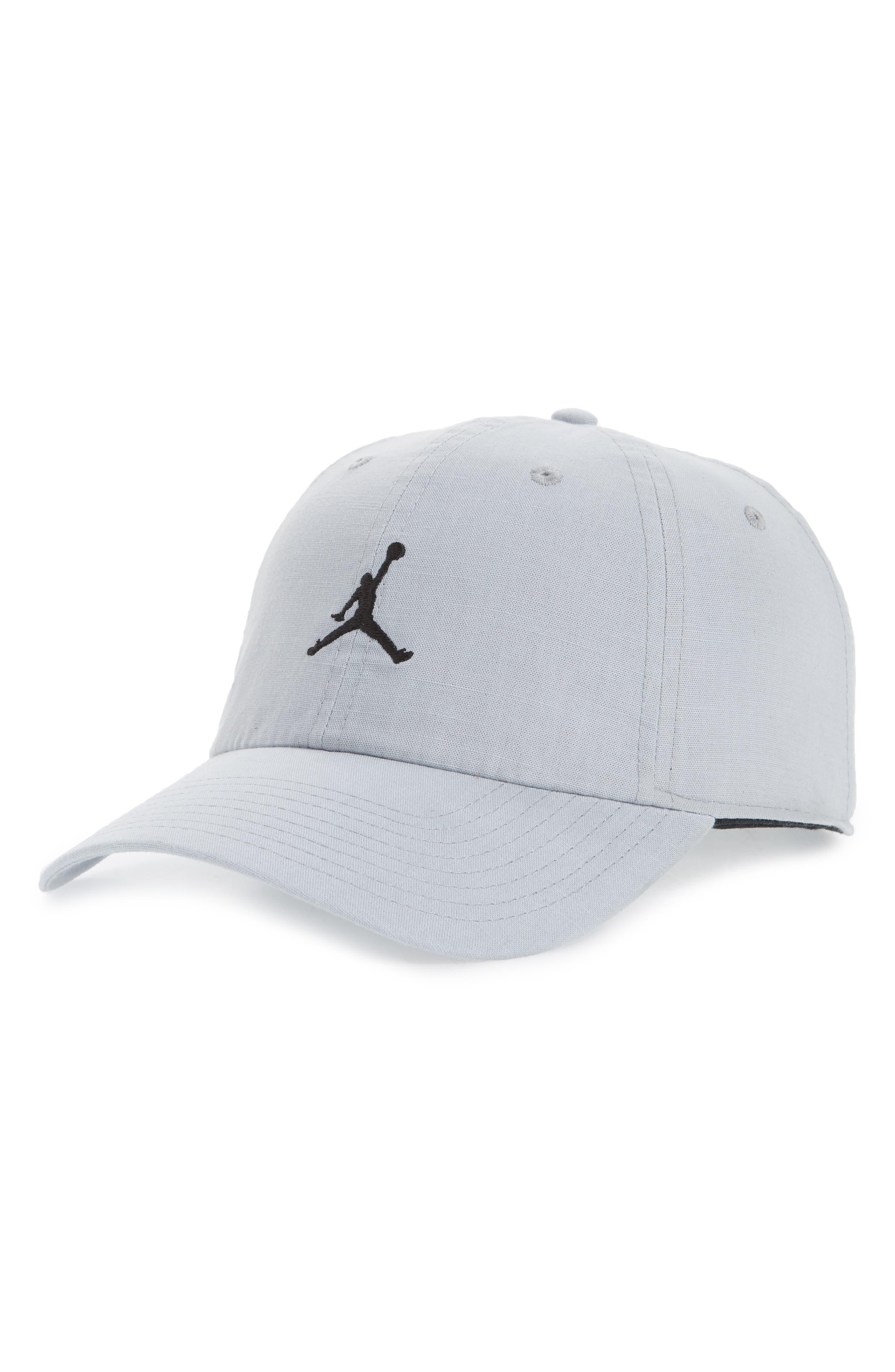Jordan H86 Jumpman Washed Baseball Cap,                         Main,                         color, Wolf Grey/ Black