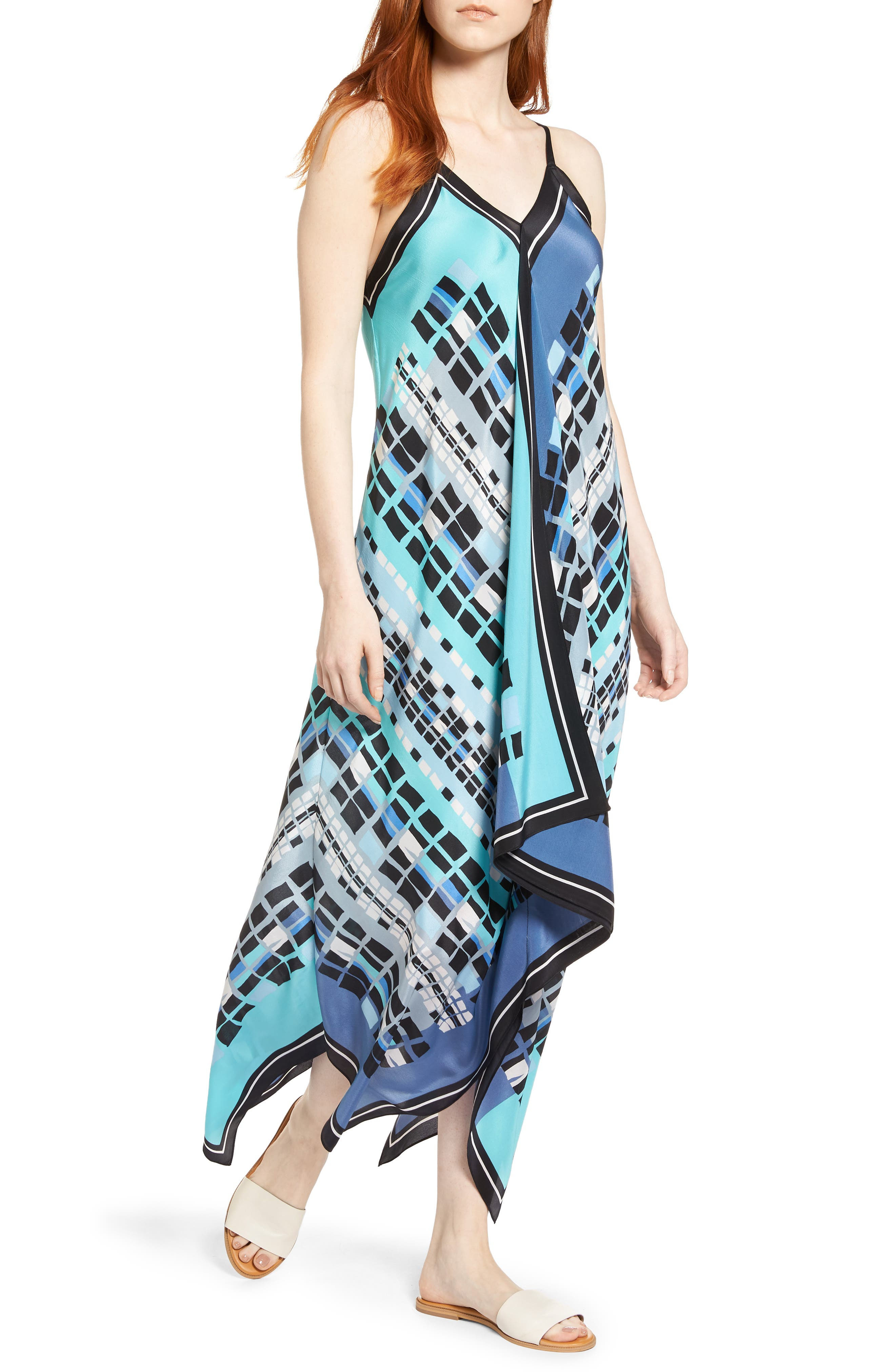 From Above Dress Silk Blend Maxi Dress,                         Main,                         color, Multi