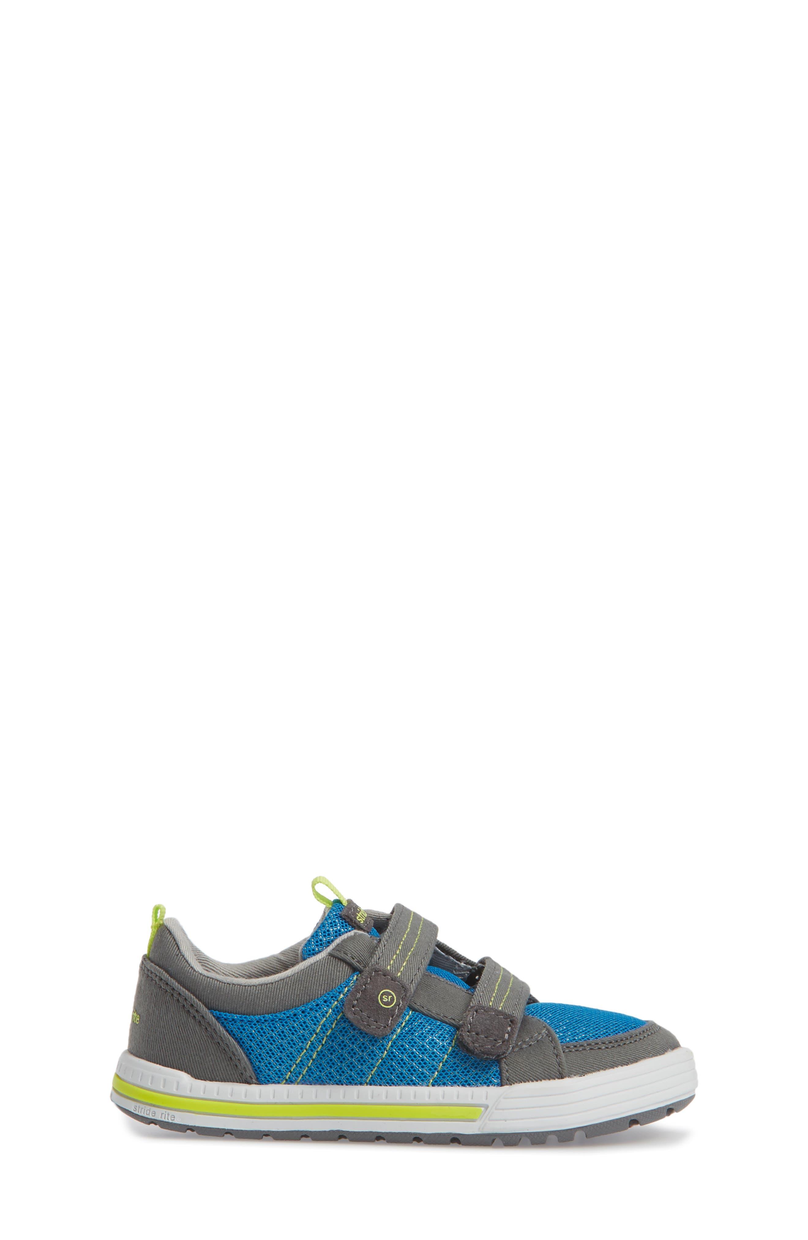 Logan Sneaker,                             Alternate thumbnail 3, color,                             Blue/ Grey