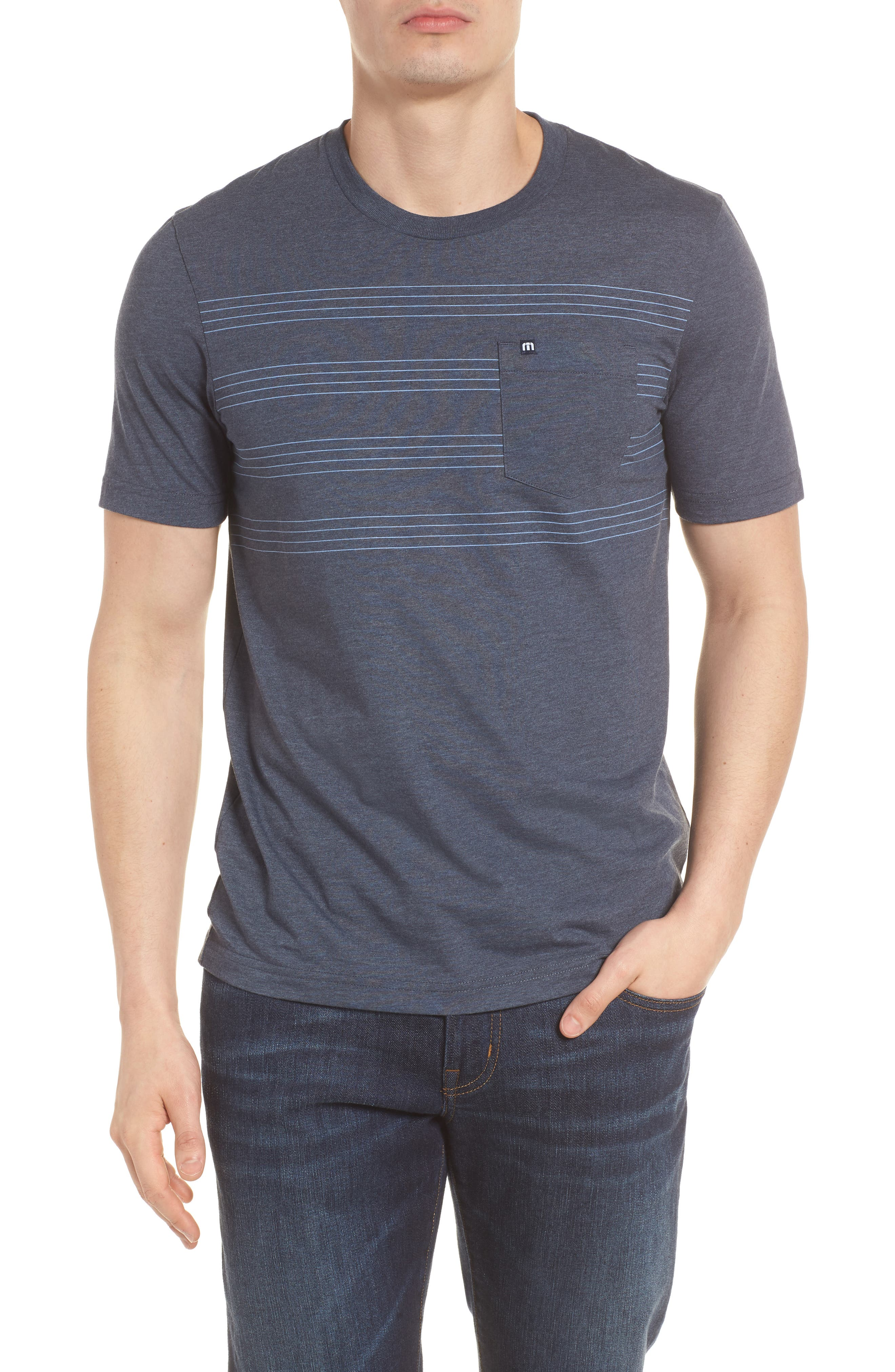 Gaviotas Crewneck T-Shirt,                         Main,                         color, Blue Nights/ Dusk Blue