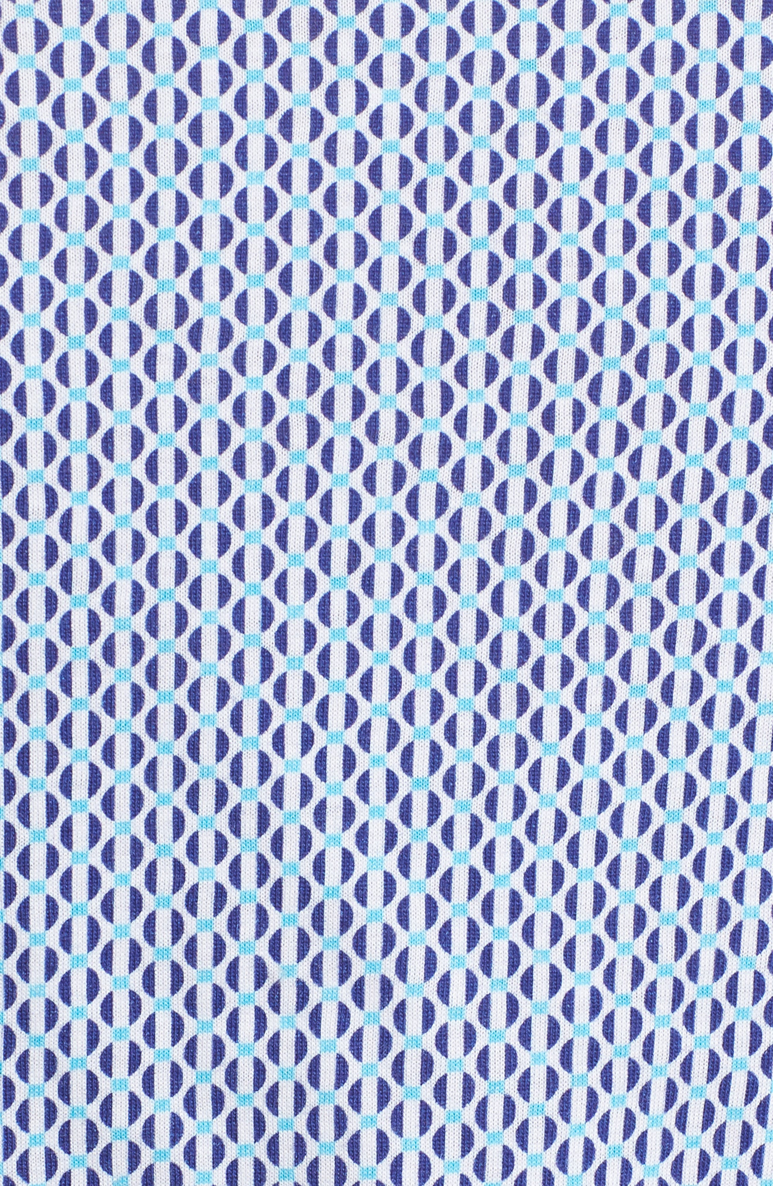 Contemporary Fit Geometric Print Sport Shirt,                             Alternate thumbnail 5, color,                             Turquoise