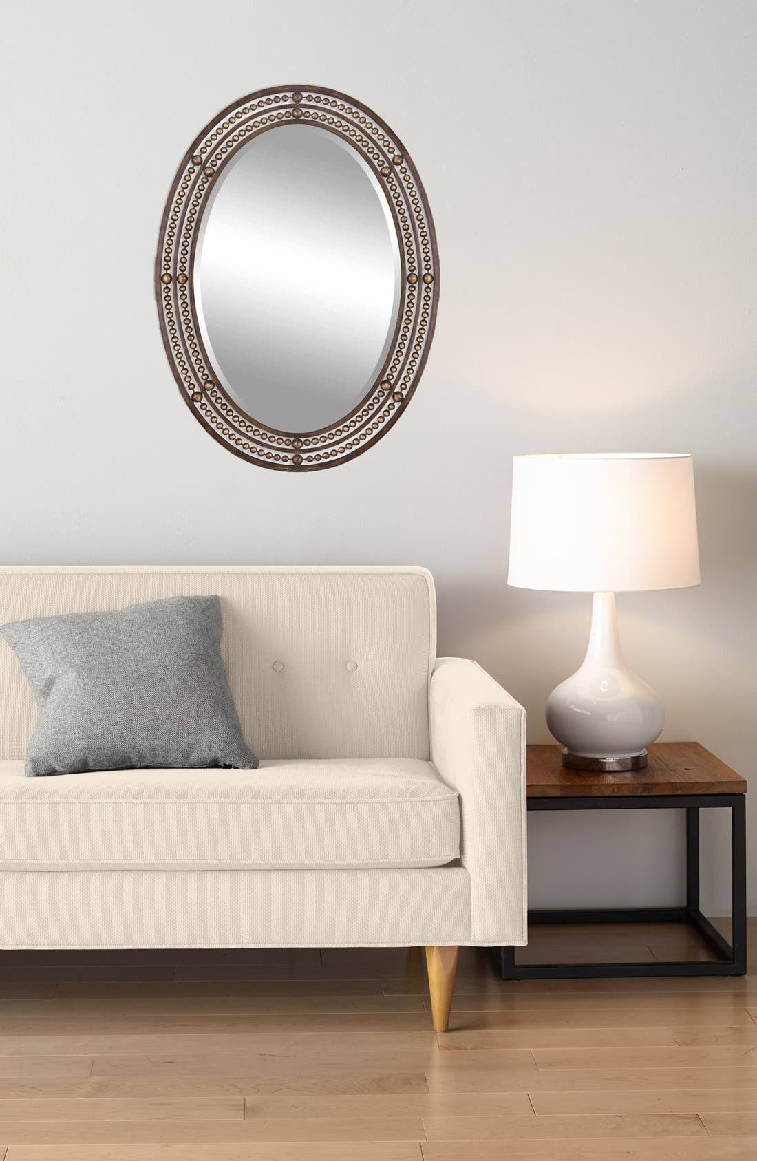 Alternate Image 2  - Uttermost 'Matney' Distressed Bronze Oval Wall Mirror