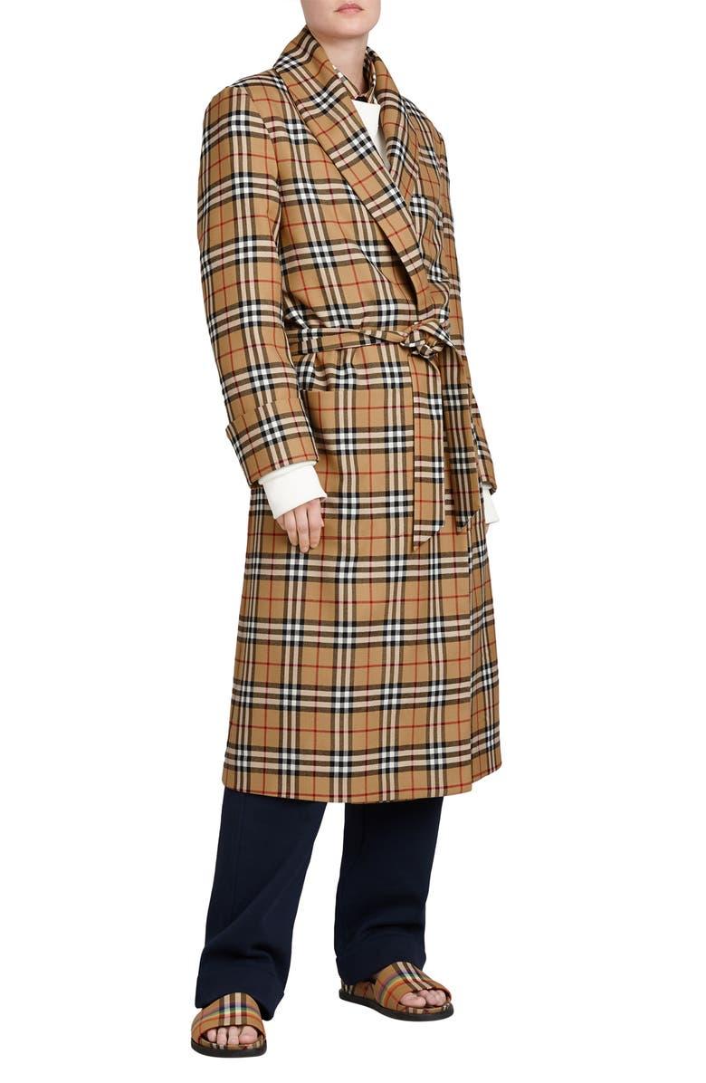 Tartan Wool Wrap Coat