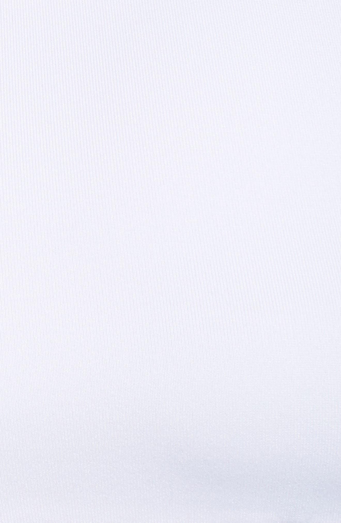Swoosh Pocket Sports Bra,                             Alternate thumbnail 6, color,                             White/ Black/ Black