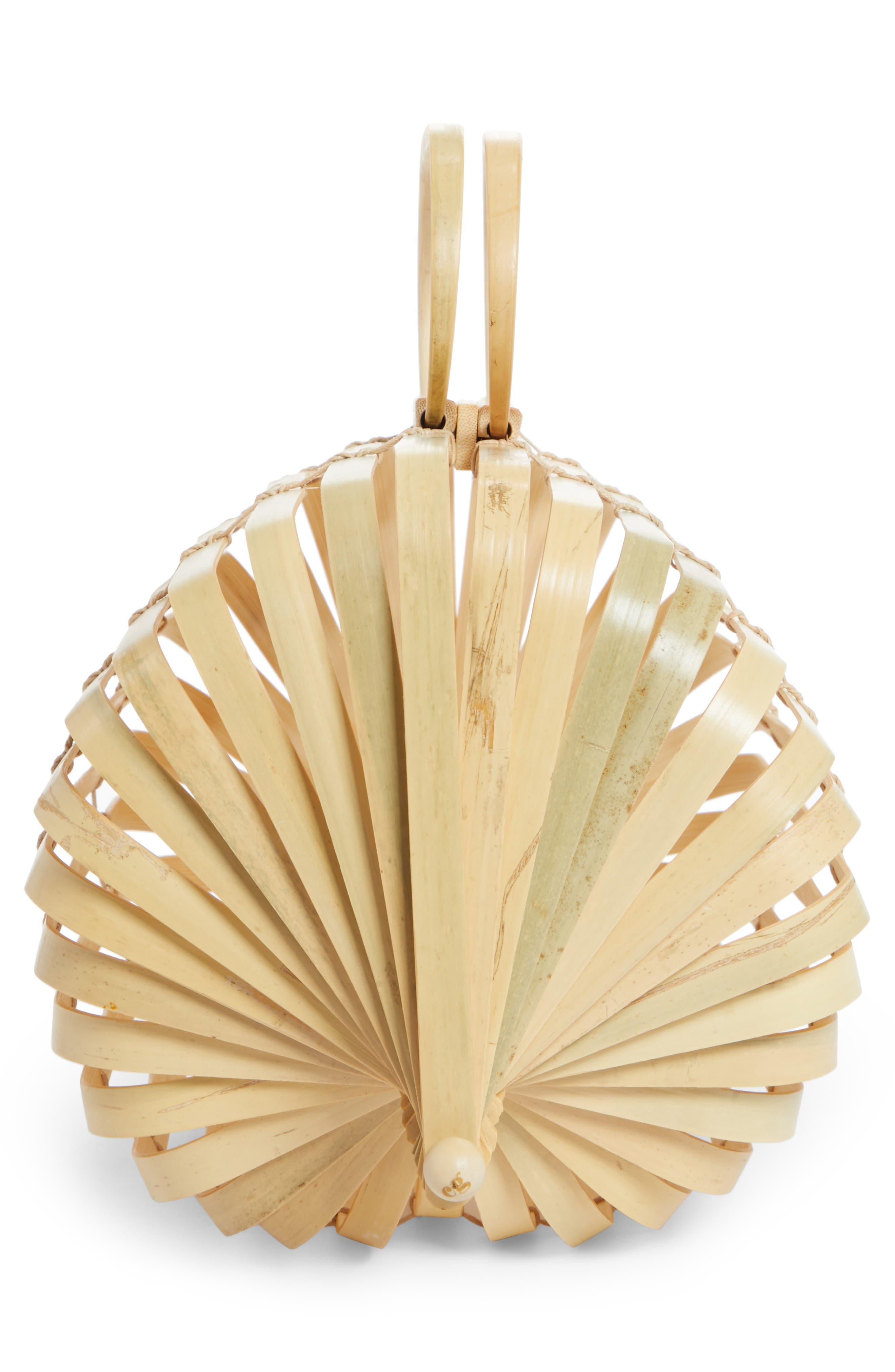 The Lilleth Bamboo Handbag,                             Alternate thumbnail 3, color,                             Natural