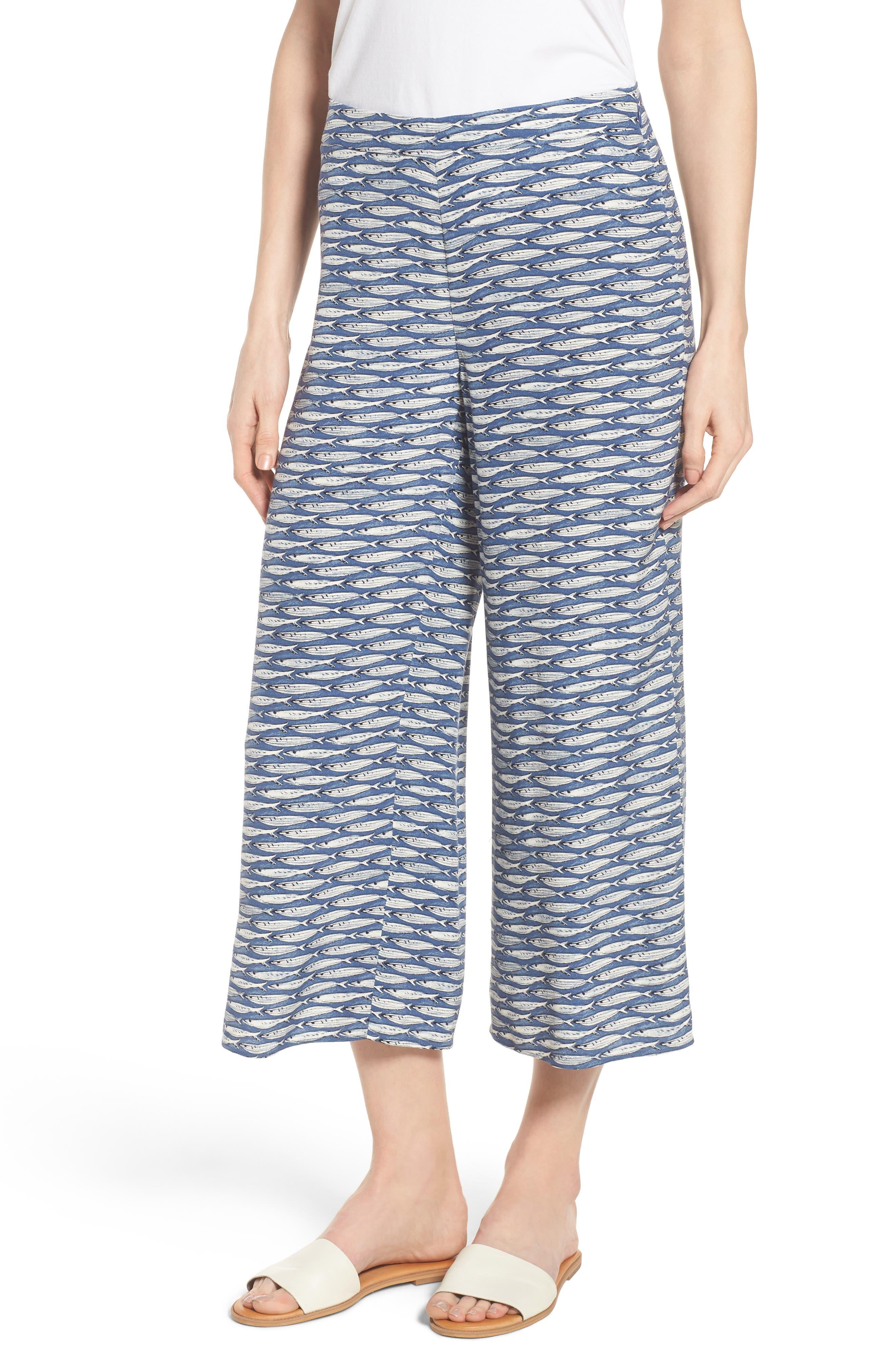 Big Sea Crop Pants,                         Main,                         color, Multi