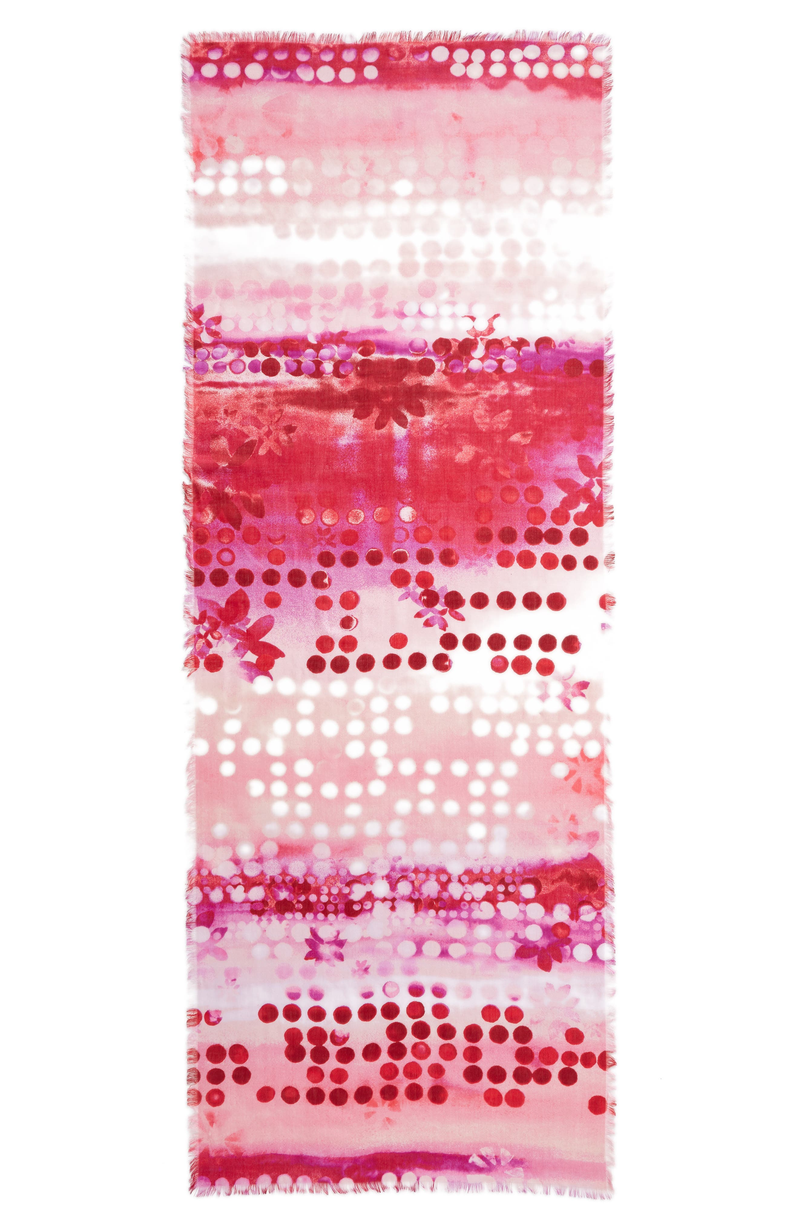 Alternate Image 3  - Nordstrom Eyelash Trim Print Cashmere & Silk Wrap