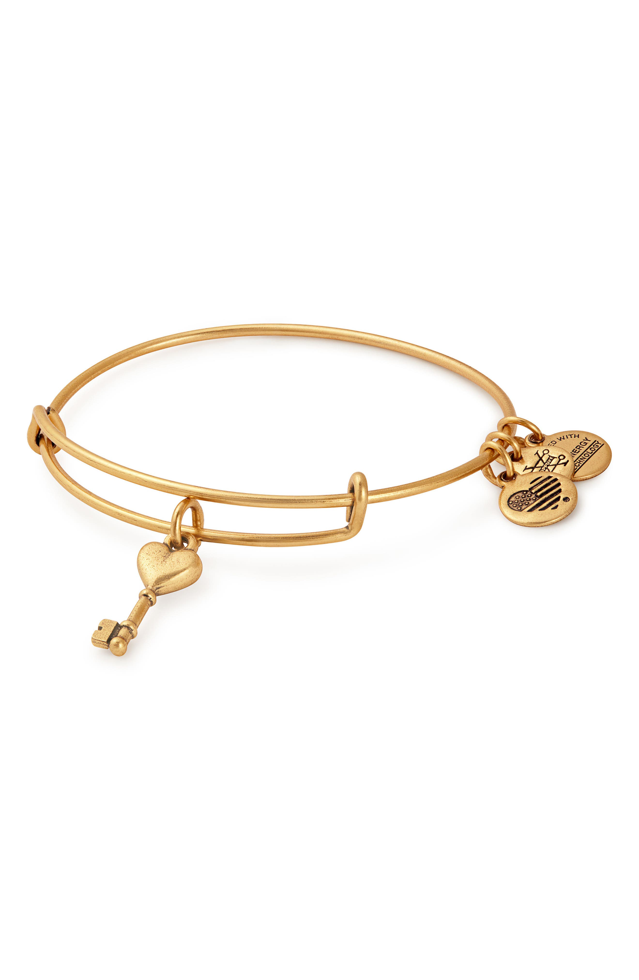 Key to Love Adjustable Wire Bangle,                         Main,                         color, Gold