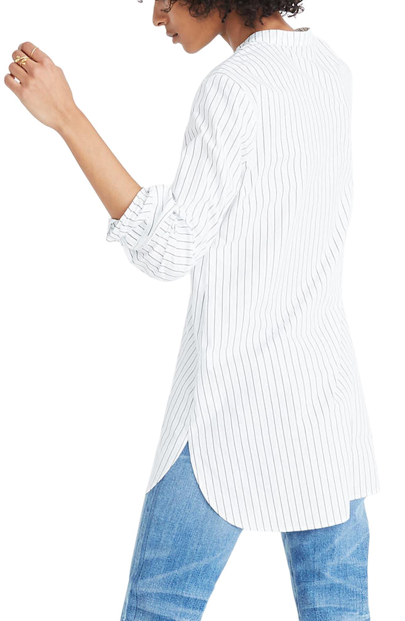 Wellspring Stripe Tunic Popover Shirt,                             Alternate thumbnail 2, color,                             White Wash