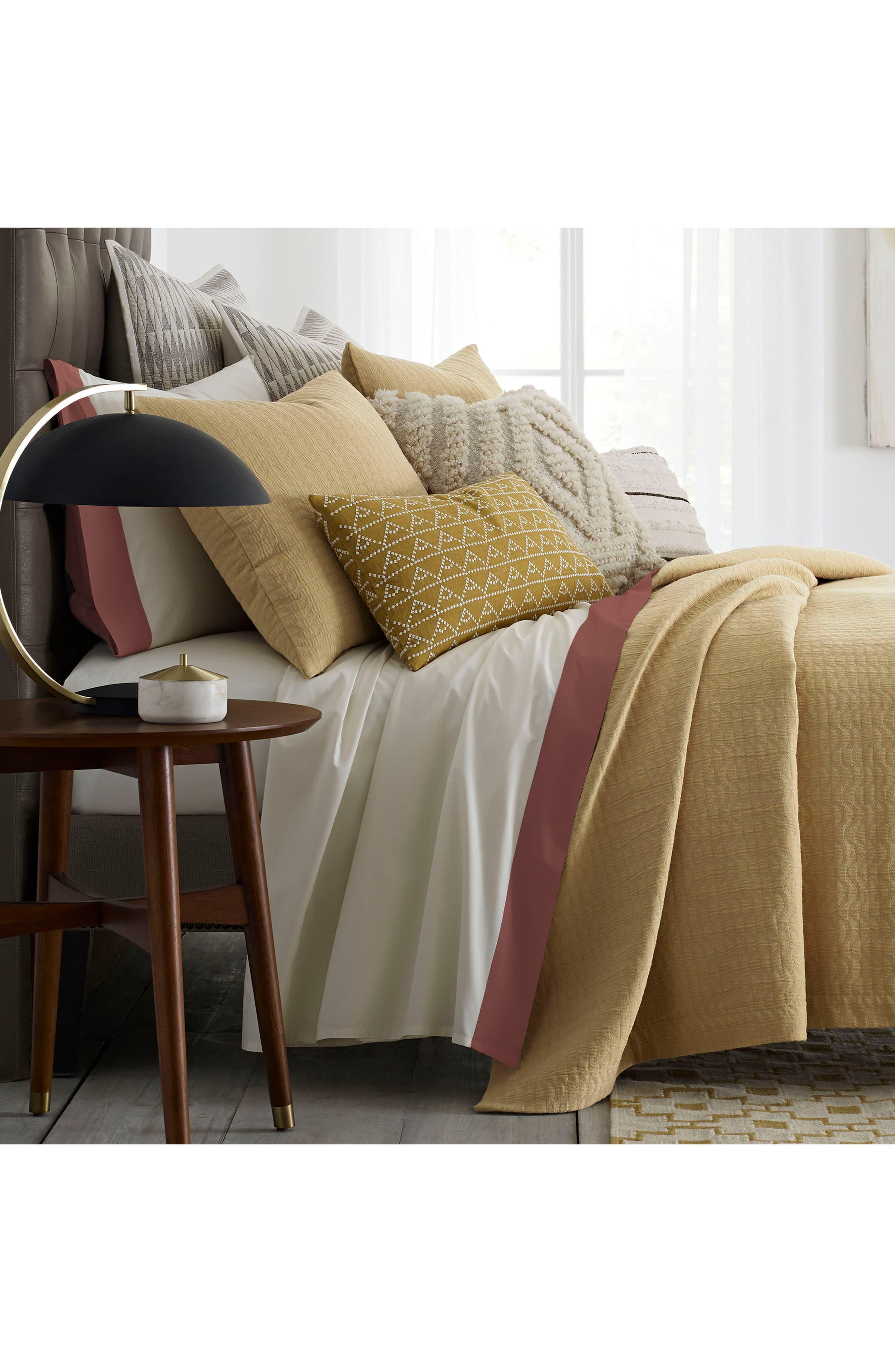 Cosima 200 Thread Count Pillow Sham,                             Alternate thumbnail 2, color,                             Medium Yellow