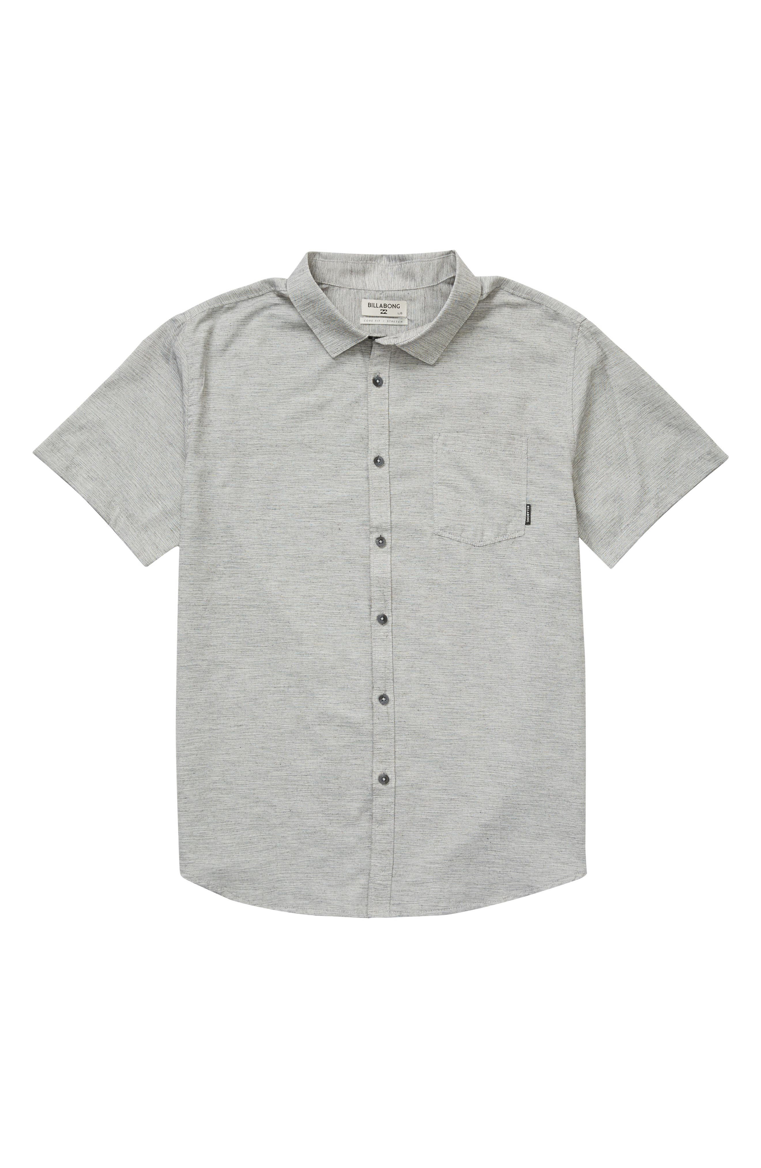 All Day Helix Woven Shirt,                         Main,                         color, Light Grey