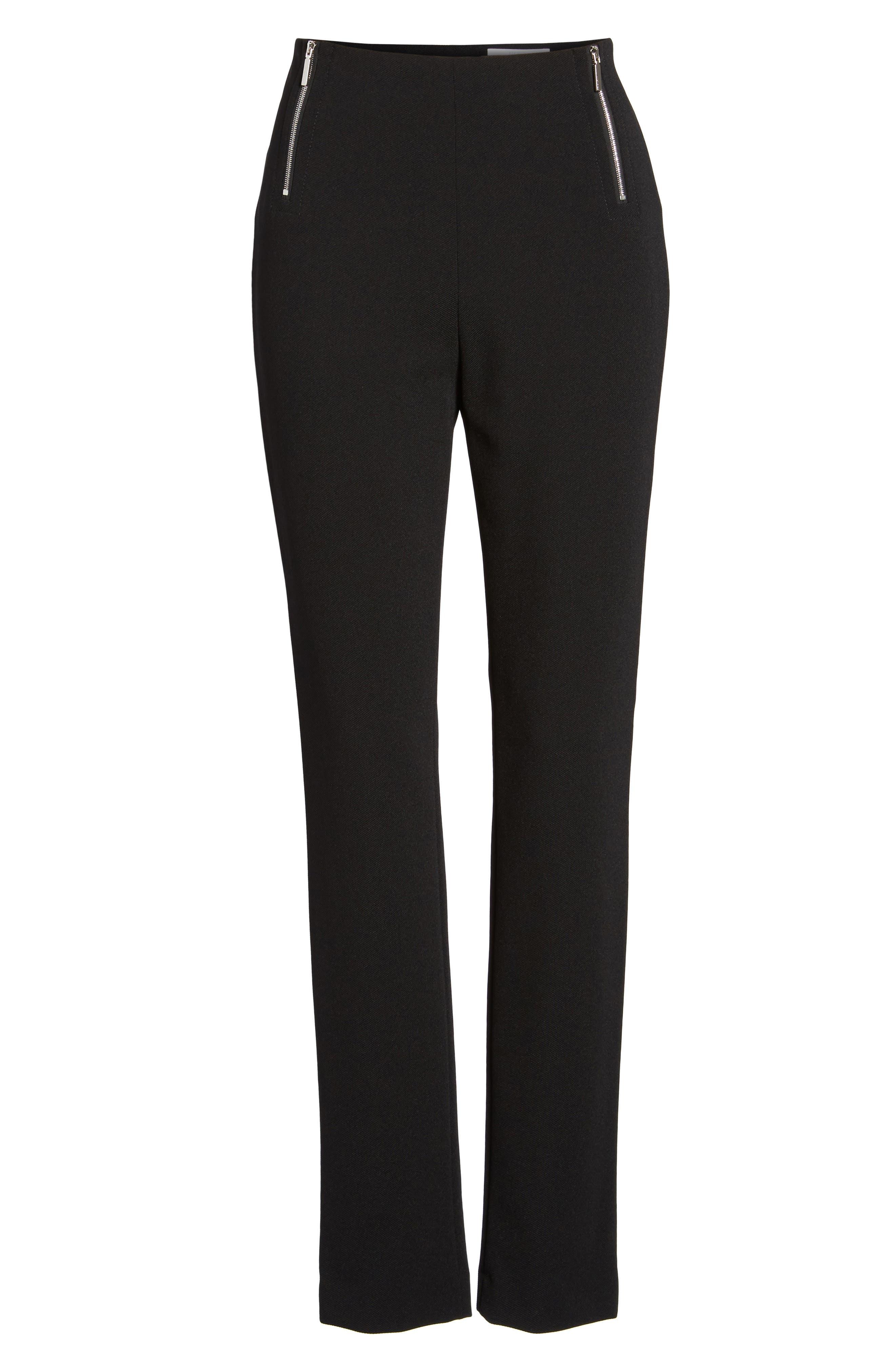 Tilezea Twill Jersey Trousers,                             Alternate thumbnail 7, color,                             Black
