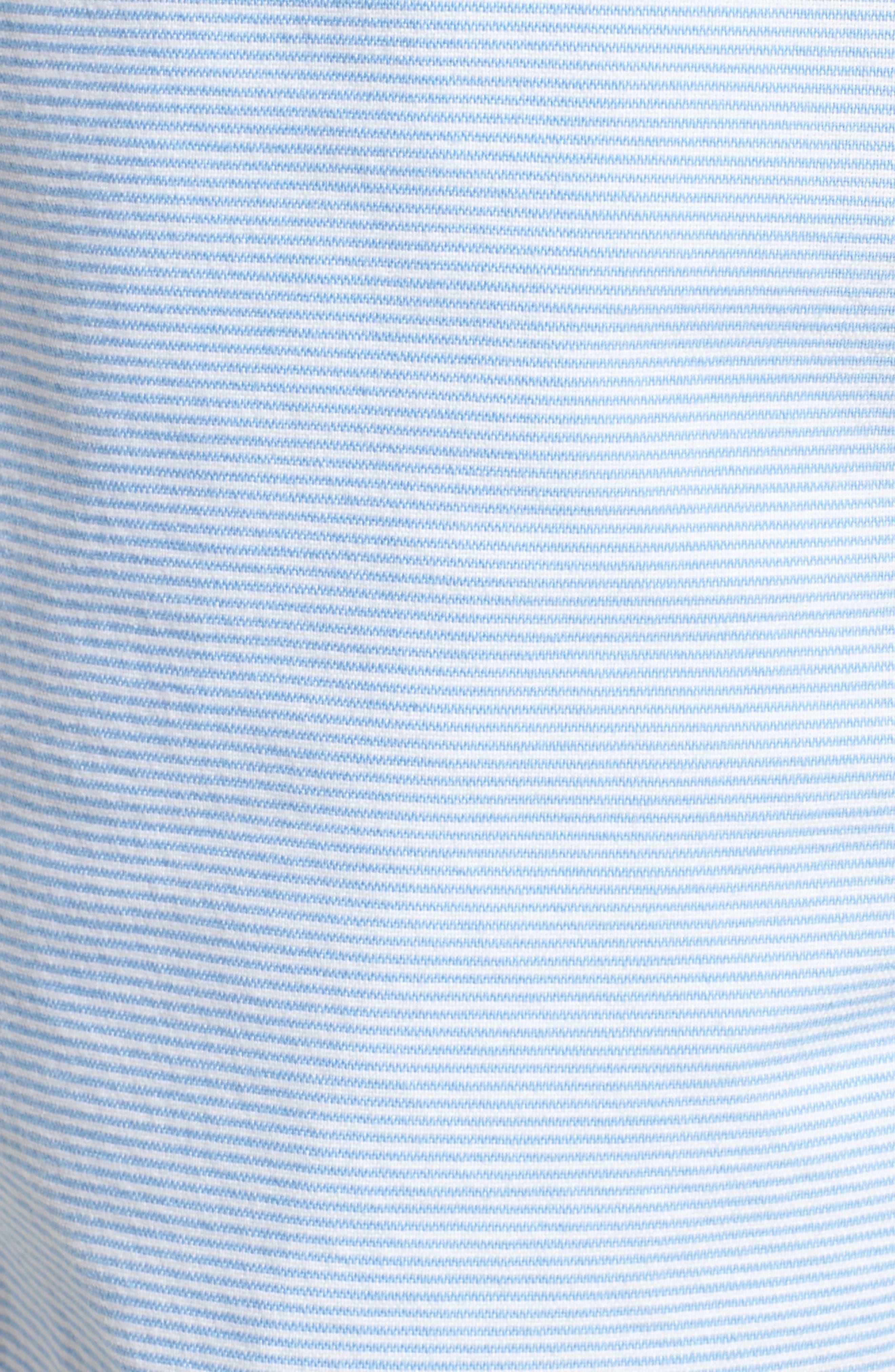 Jetty Stripe Stretch Cotton Shorts,                             Alternate thumbnail 5, color,                             Ocean Breeze