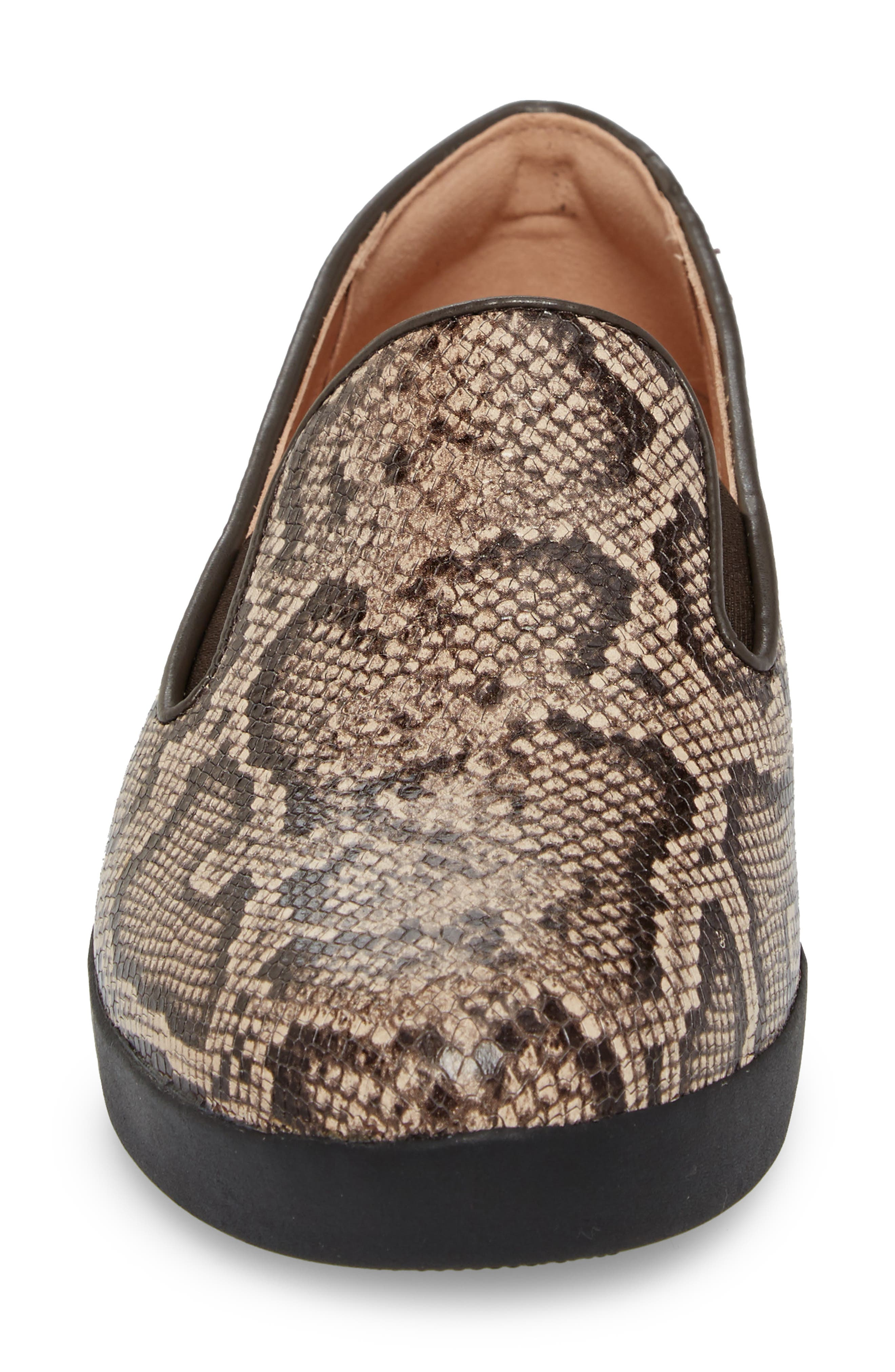 SuperSkate<sup>™</sup> Loafer,                             Alternate thumbnail 4, color,                             Taupe Snake Print Leather