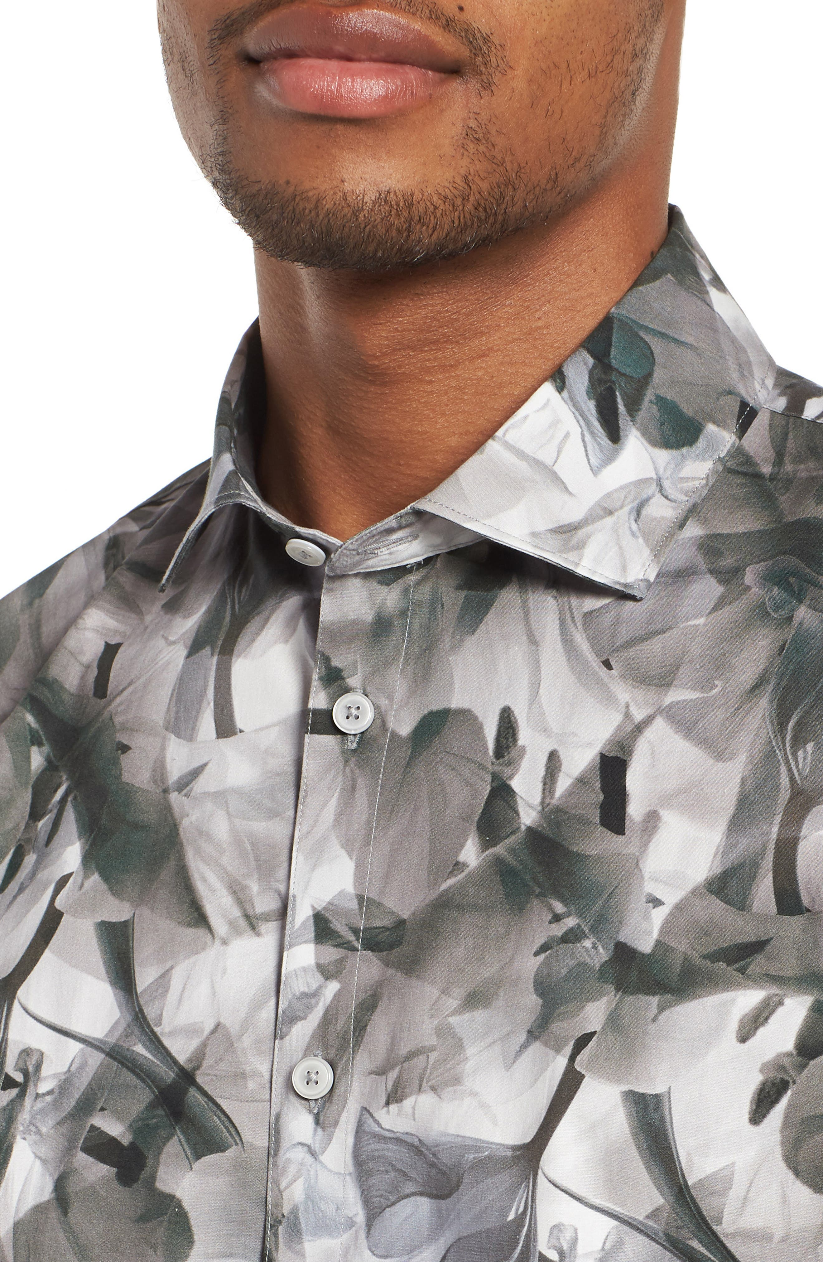 Cabana Regular Fit Sport Shirt,                             Alternate thumbnail 2, color,                             Floral X-Ray