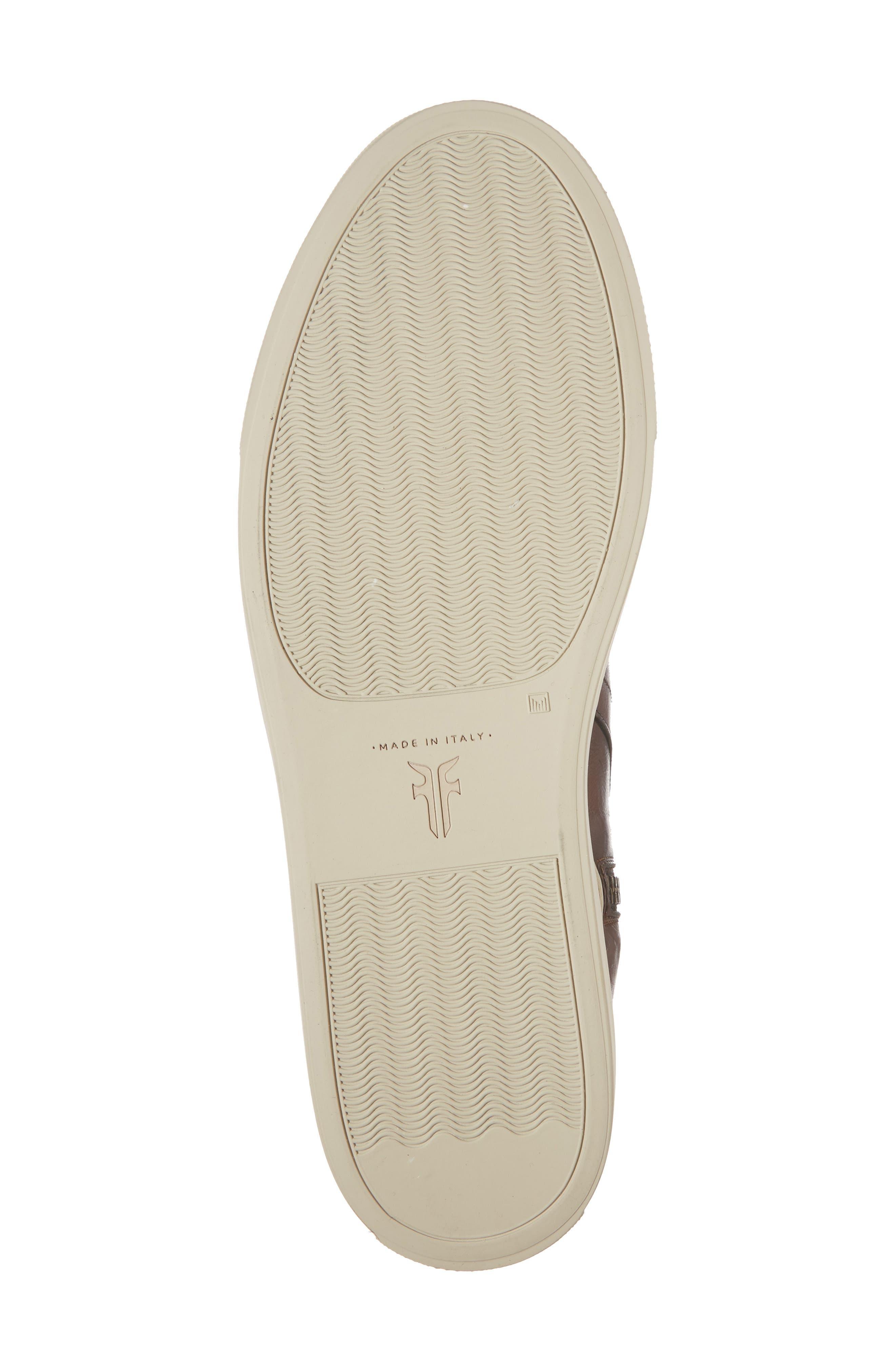 Owen Jodhpur High Top Sneaker,                             Alternate thumbnail 6, color,                             Redwood Leather