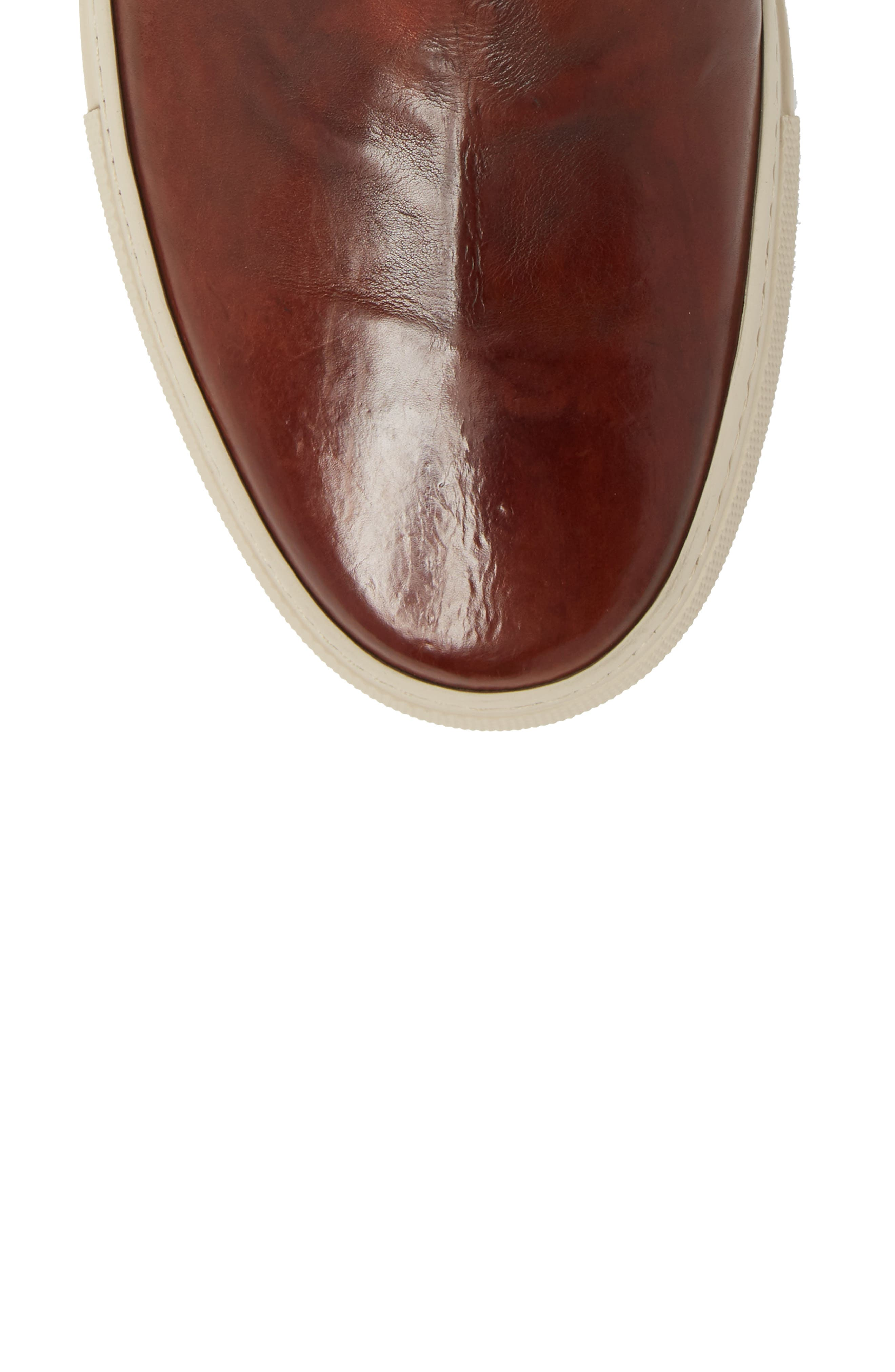 Owen Jodhpur High Top Sneaker,                             Alternate thumbnail 5, color,                             Redwood Leather