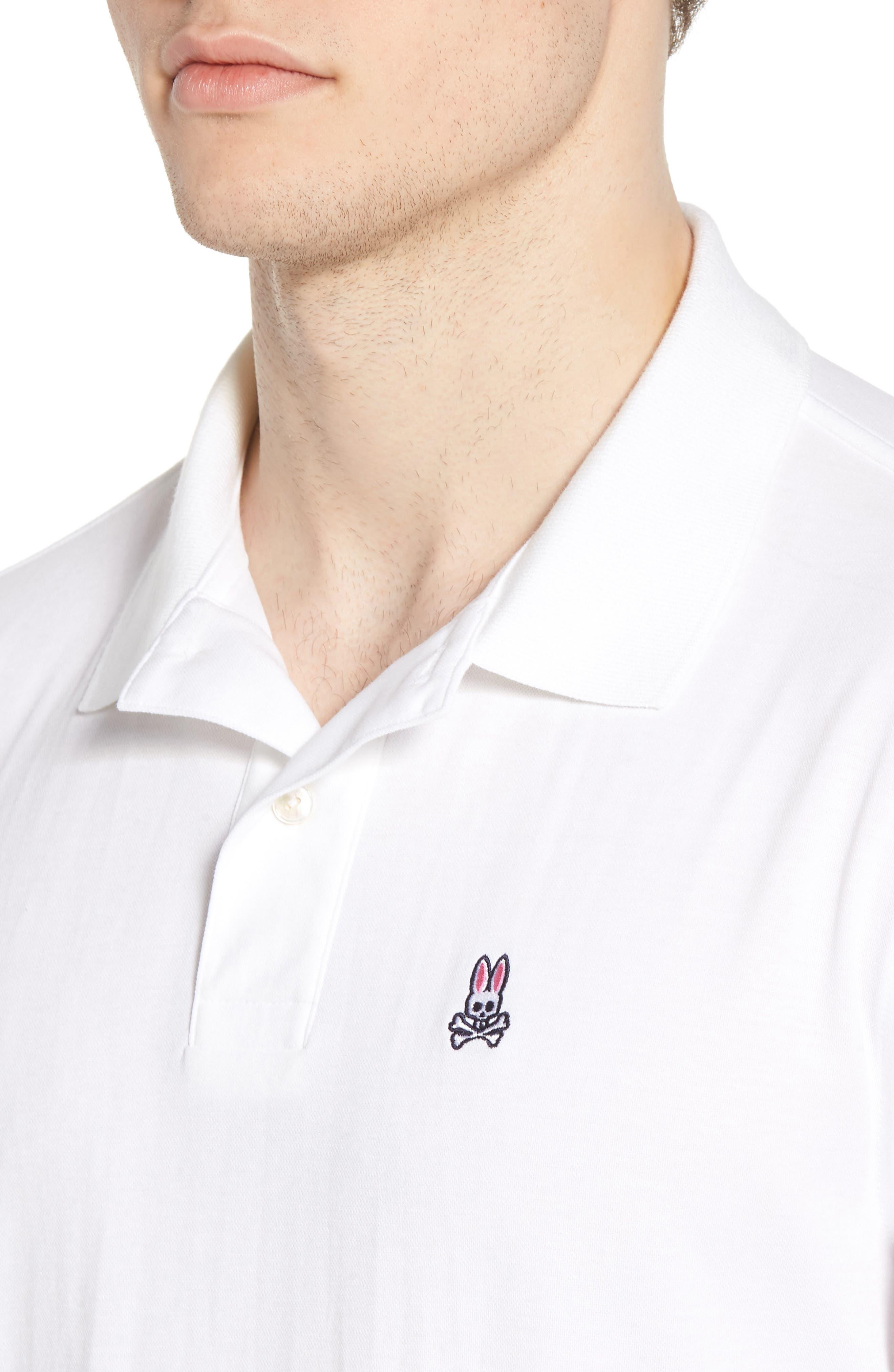 Neon Tipped Golf Polo,                             Alternate thumbnail 4, color,                             White