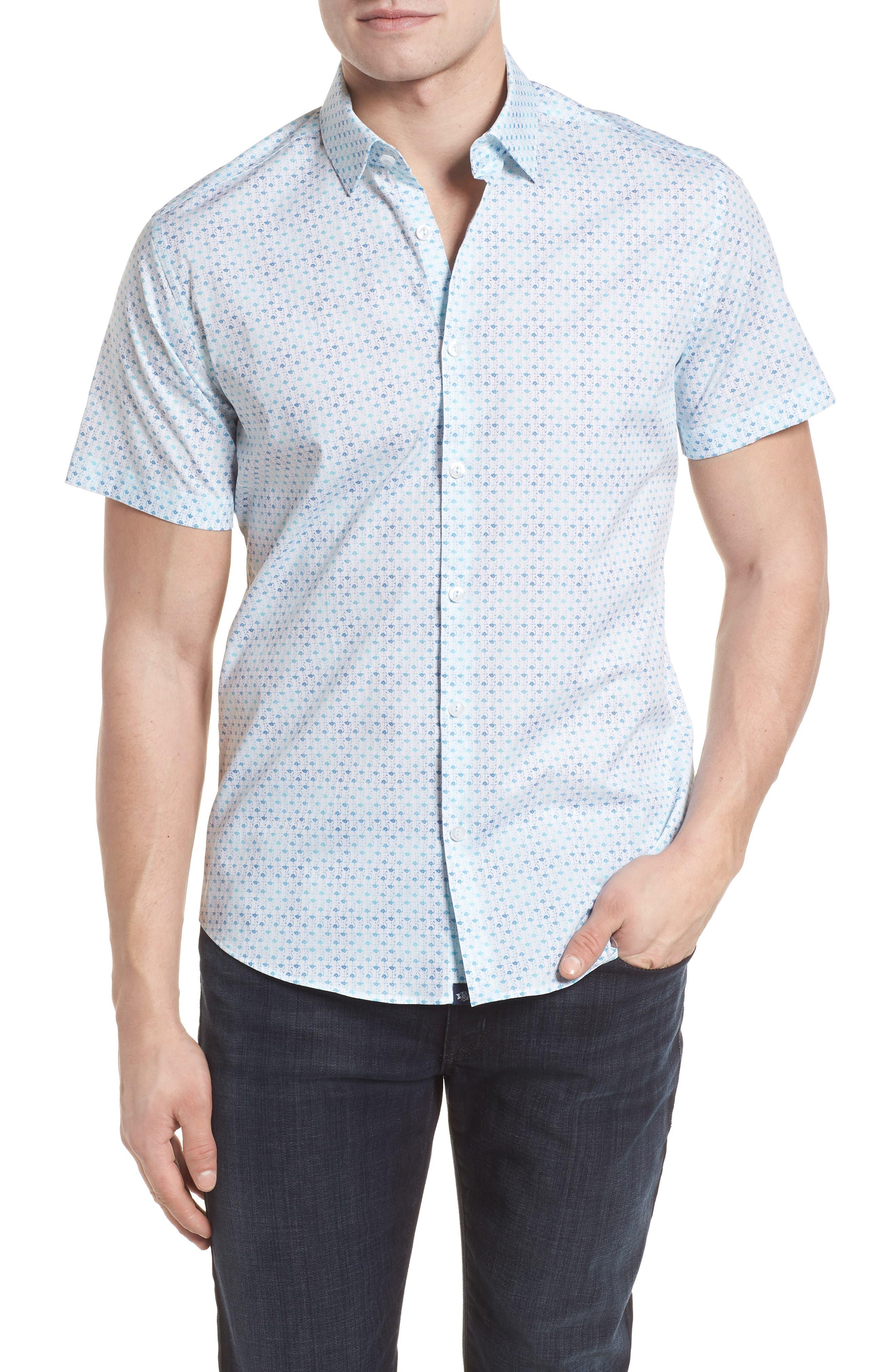 Stone Rose Woven Sport Shirt