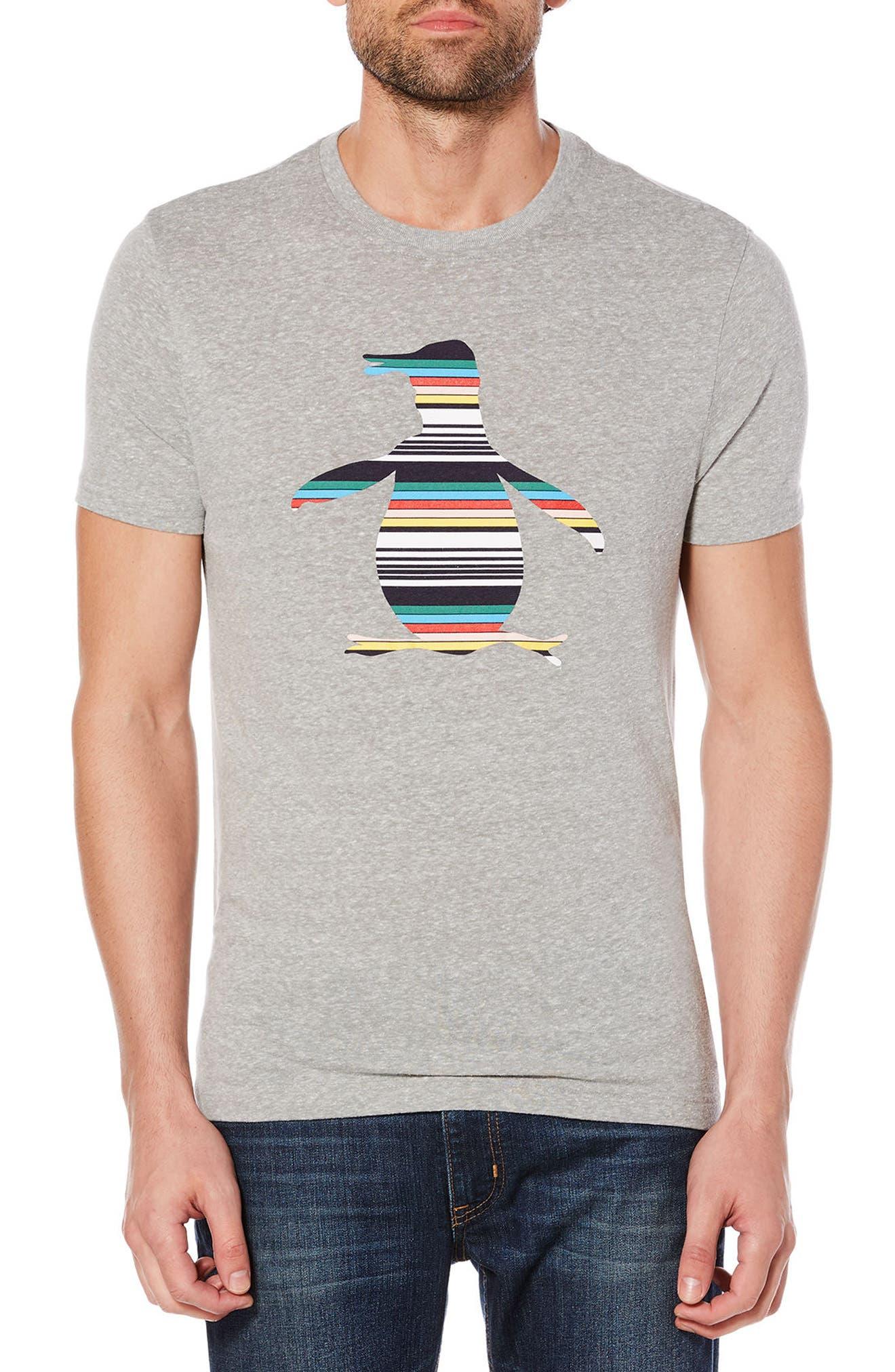 Engineered Stripe Pete T-Shirt,                             Main thumbnail 1, color,                             Rain Heather