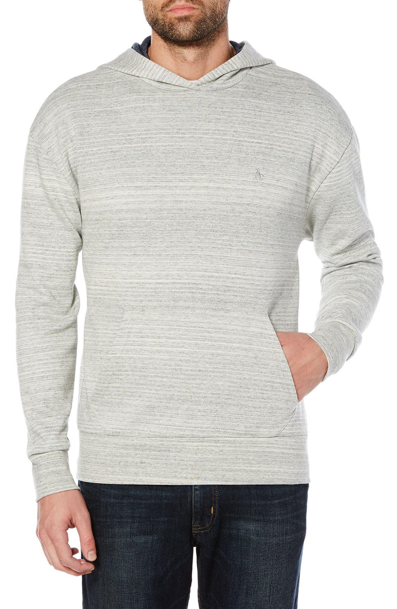 Hooded Sweater,                         Main,                         color, Rain Heather