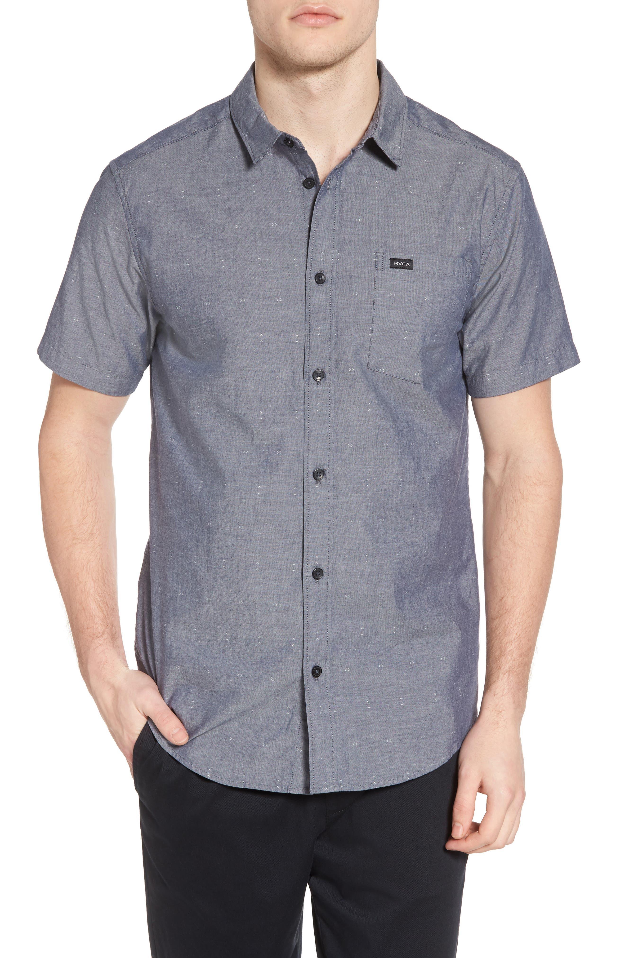 Arrows Woven Shirt,                         Main,                         color, Classic Indigo