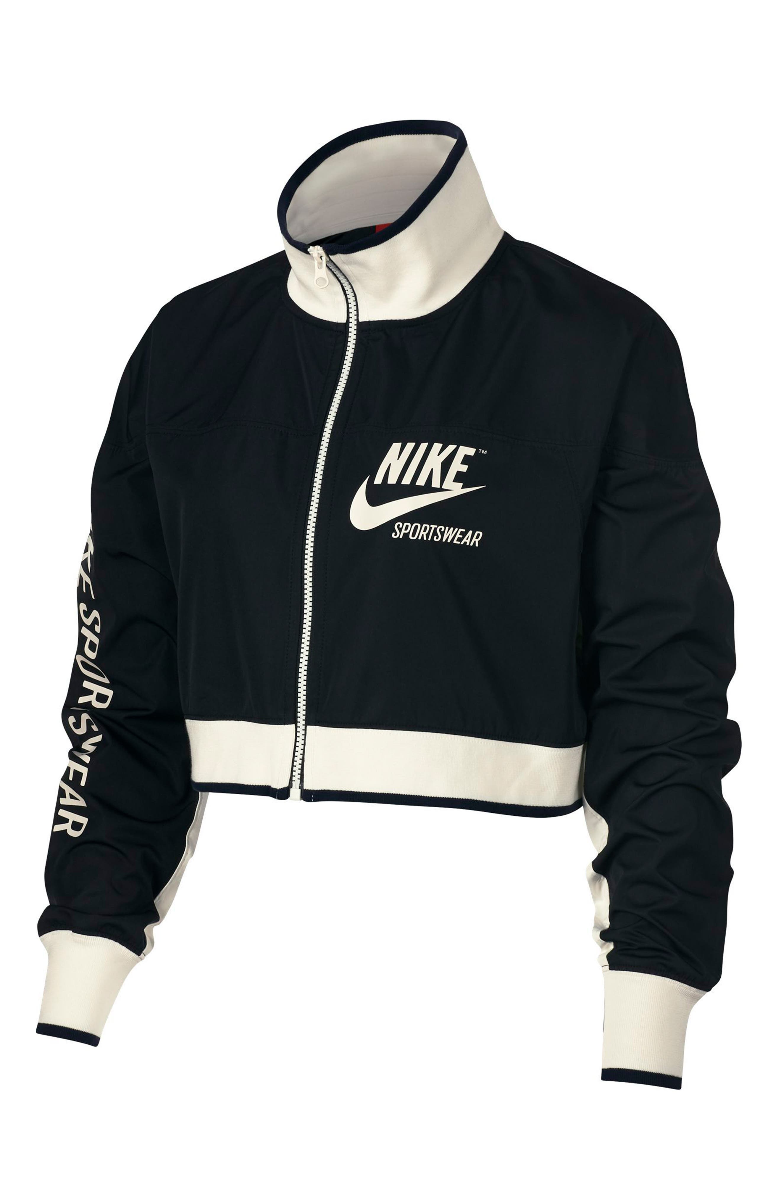 Sportswear Archive Women's Track Jacket,                             Main thumbnail 1, color,                             Black/ Black/ Sail/ Sail