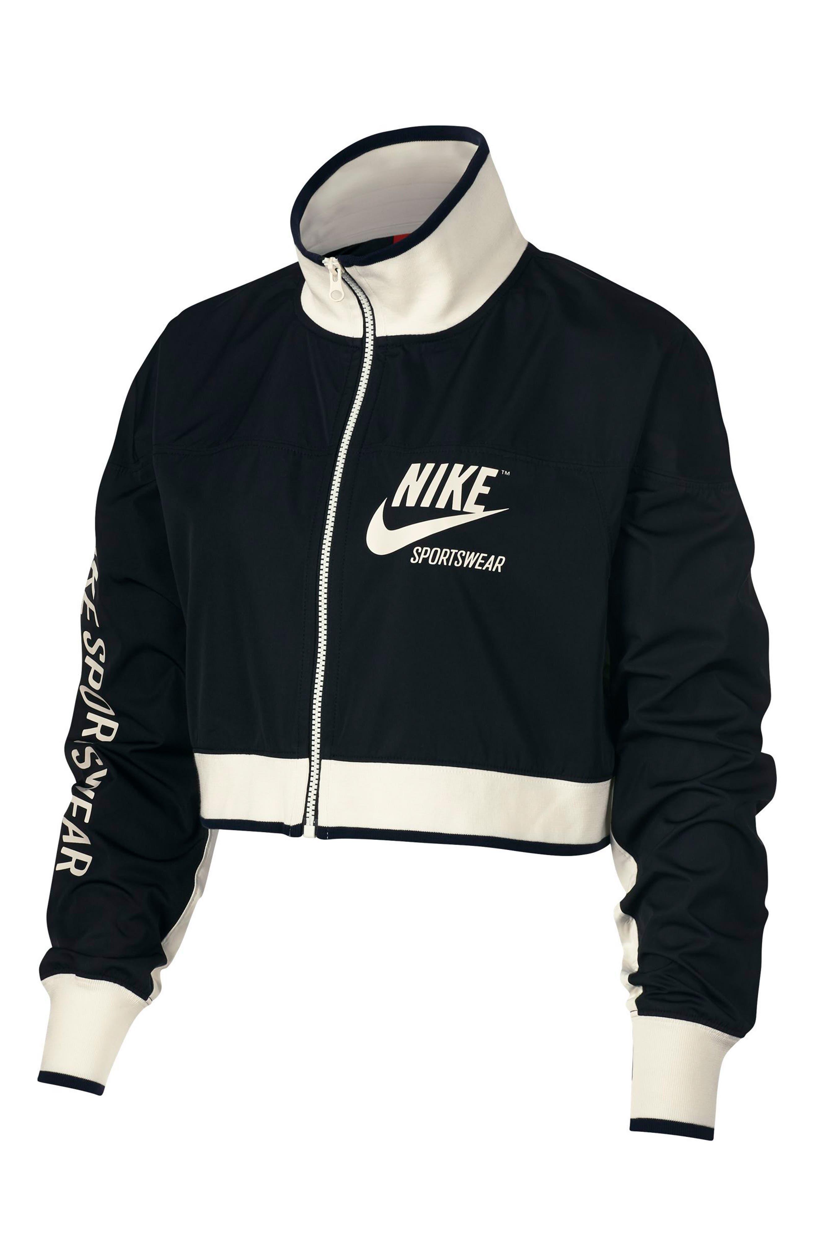 Sportswear Archive Women's Track Jacket,                         Main,                         color, Black/ Black/ Sail/ Sail