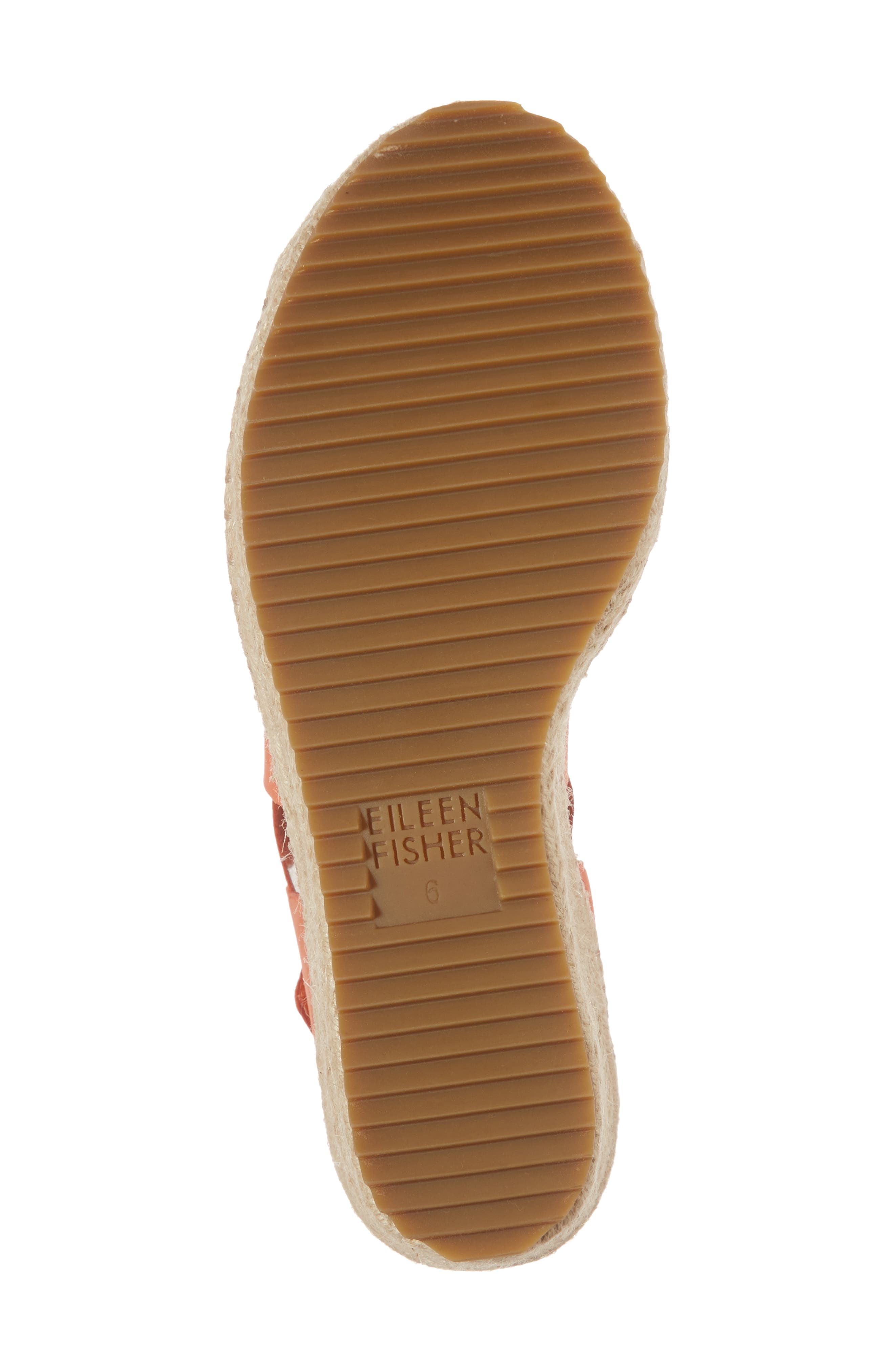 'Willow' Espadrille Wedge Sandal,                             Alternate thumbnail 6, color,                             Persimmon Leather