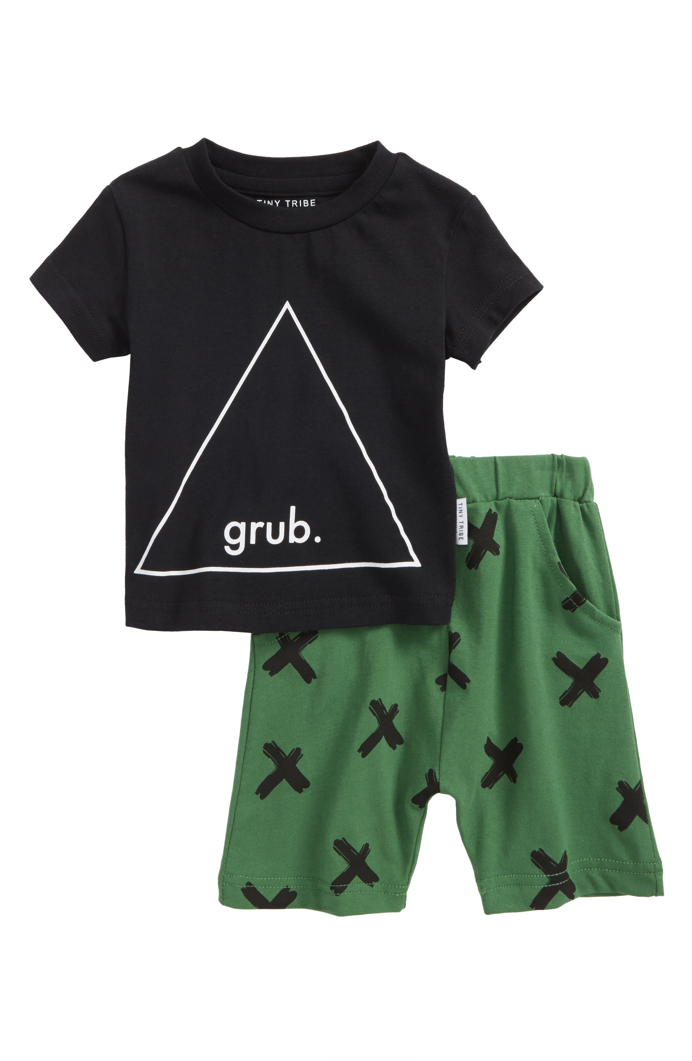 Tiny Tribe Grub T-Shirt & Shorts Set (Baby Boys)