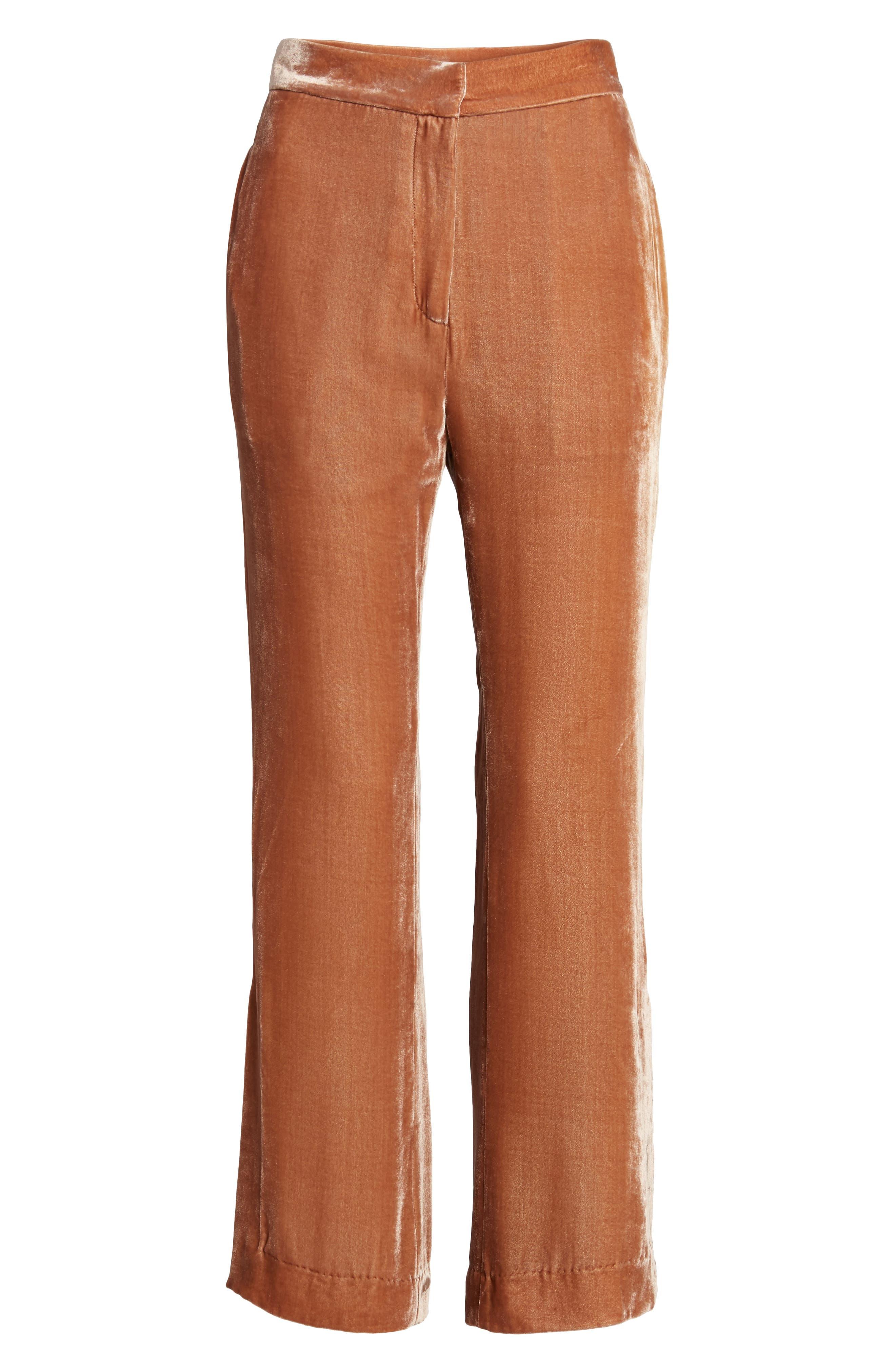 Bushwick Velvet Pants,                             Alternate thumbnail 6, color,                             Brown