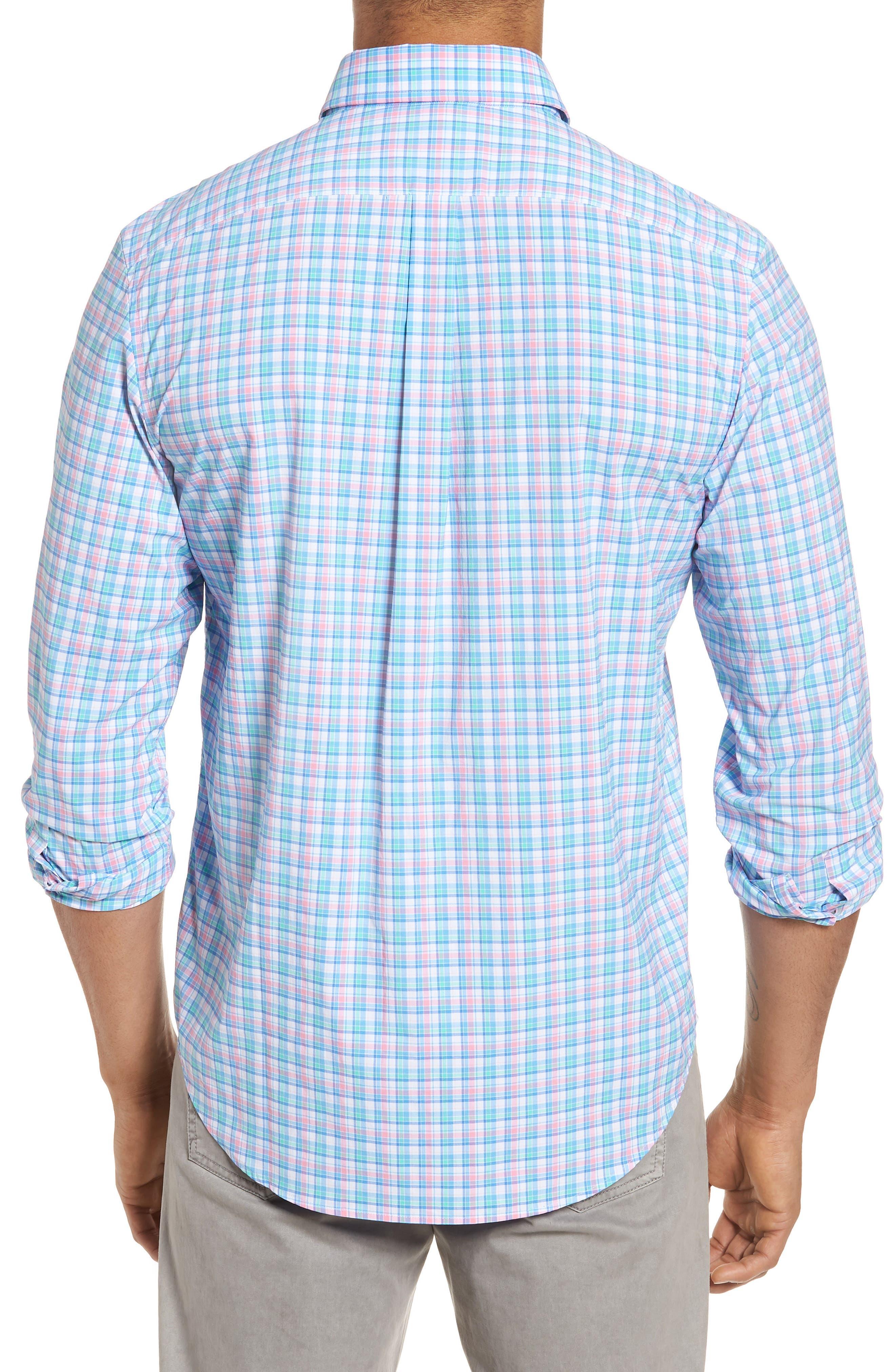 Tiki Bar Plaid Classic Fit Sport Shirt,                             Alternate thumbnail 2, color,                             Pink