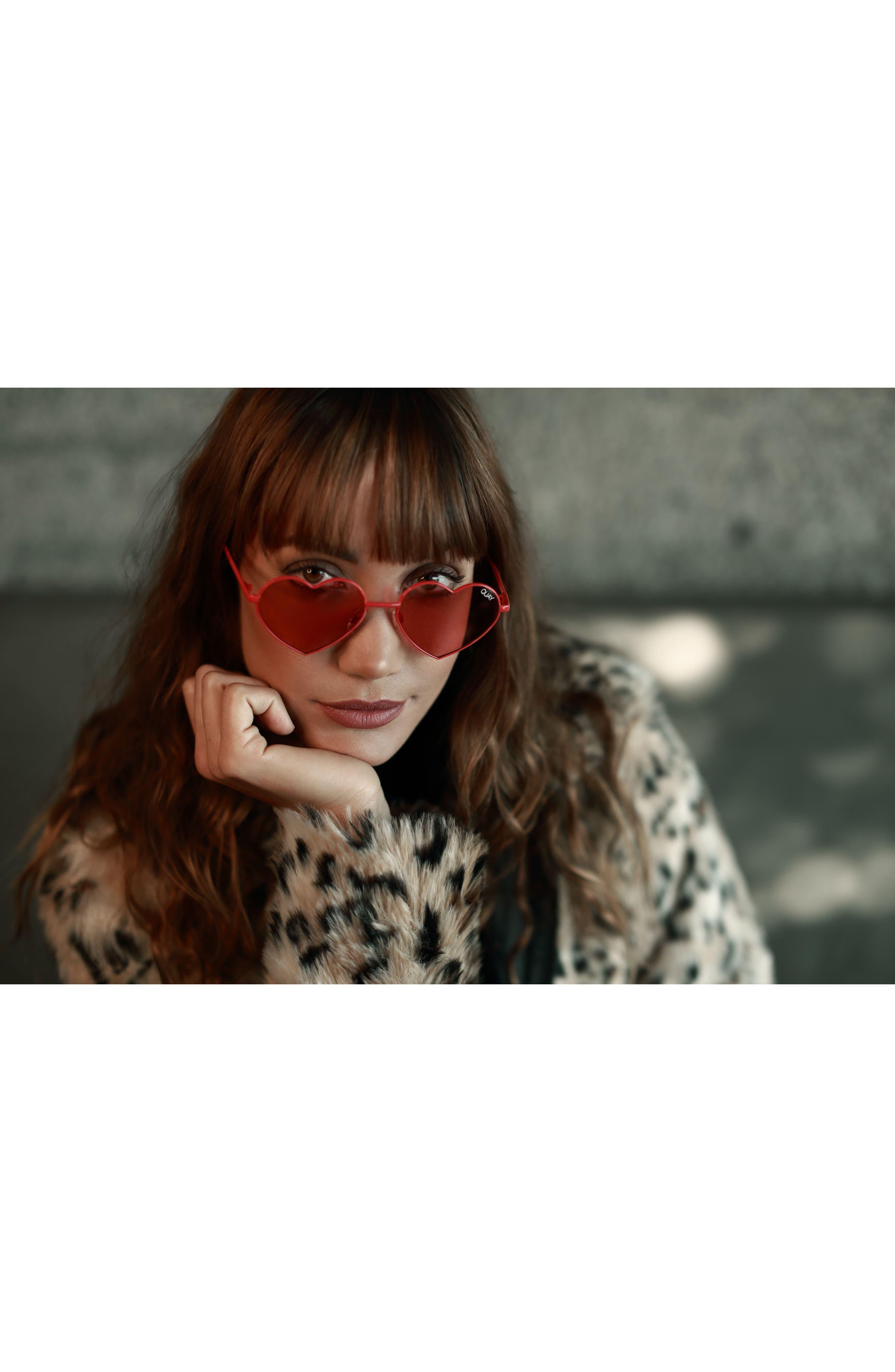 Alternate Image 4  - Quay Australia 53mm Heart Breaker Heart-Shaped Sunglasses
