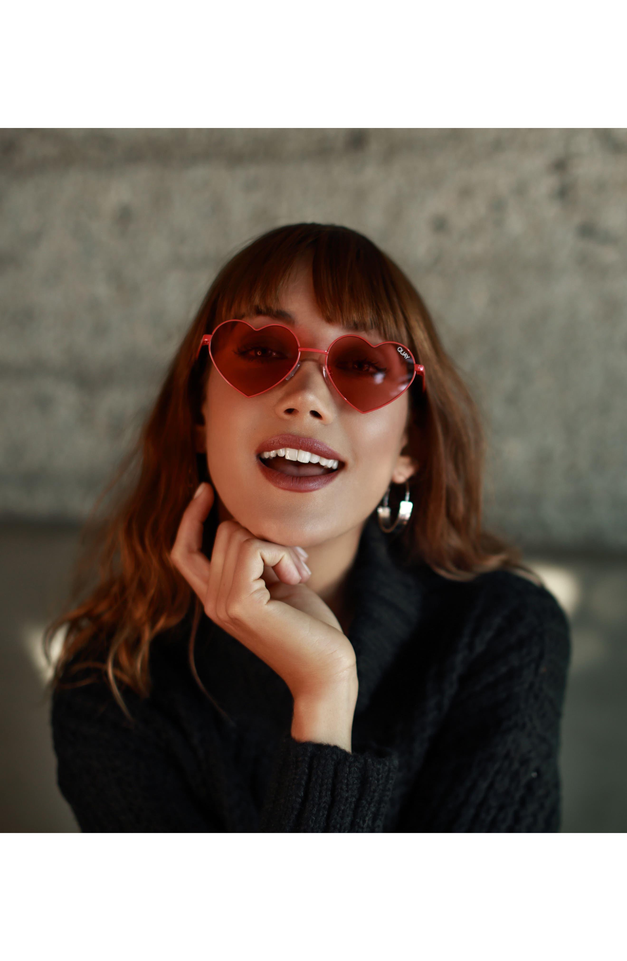 Alternate Image 5  - Quay Australia 53mm Heart Breaker Heart-Shaped Sunglasses