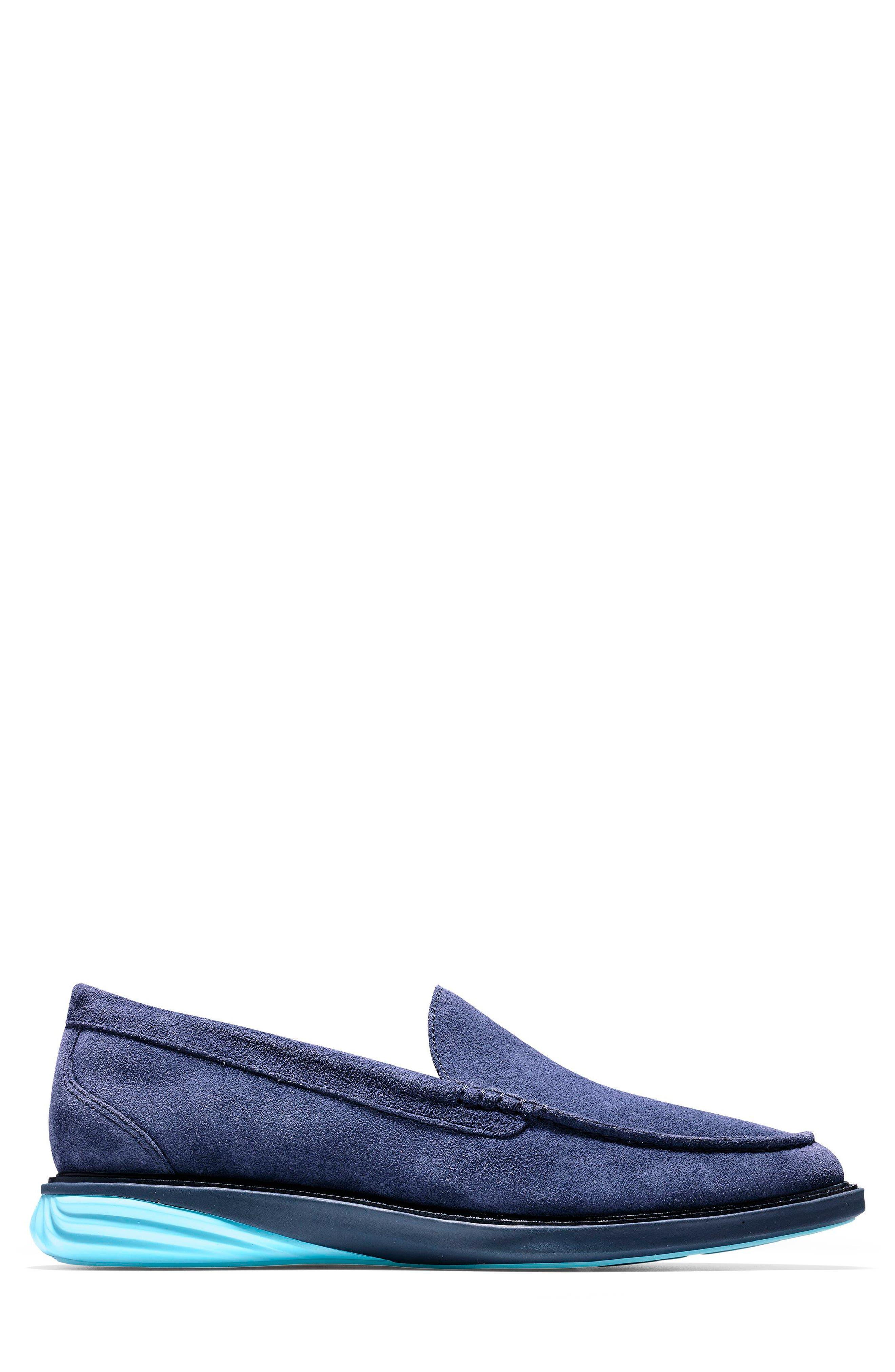 GrandEvølution Venetian Loafer,                             Alternate thumbnail 3, color,                             Marine Blue Suede
