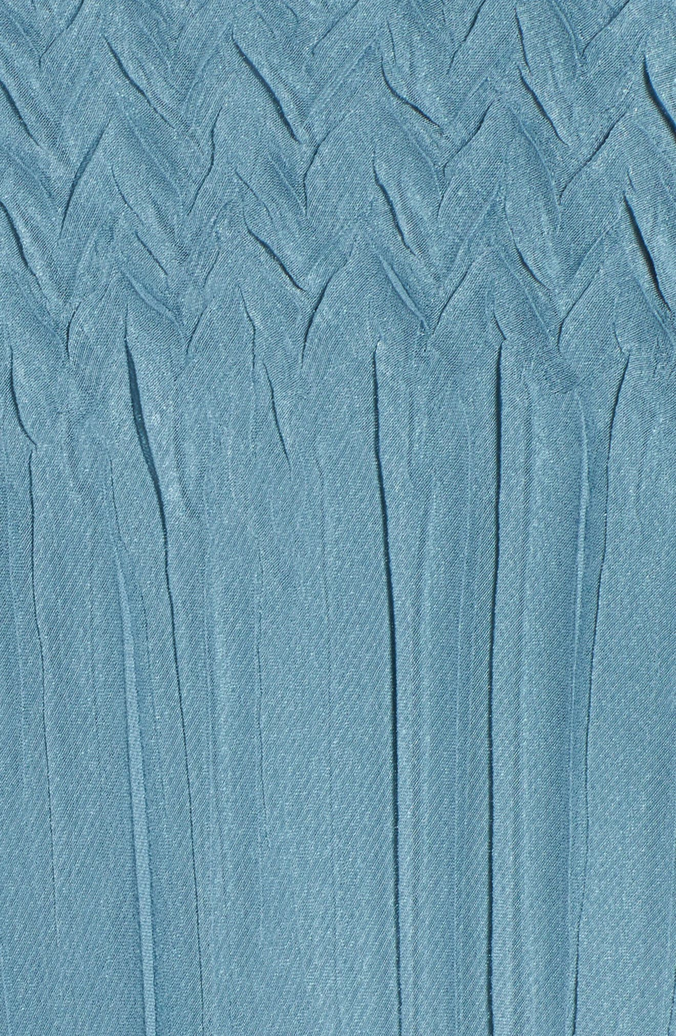 Bead Trim Tiered Chiffon Dress,                             Alternate thumbnail 5, color,                             Silver Blue Night Ombre