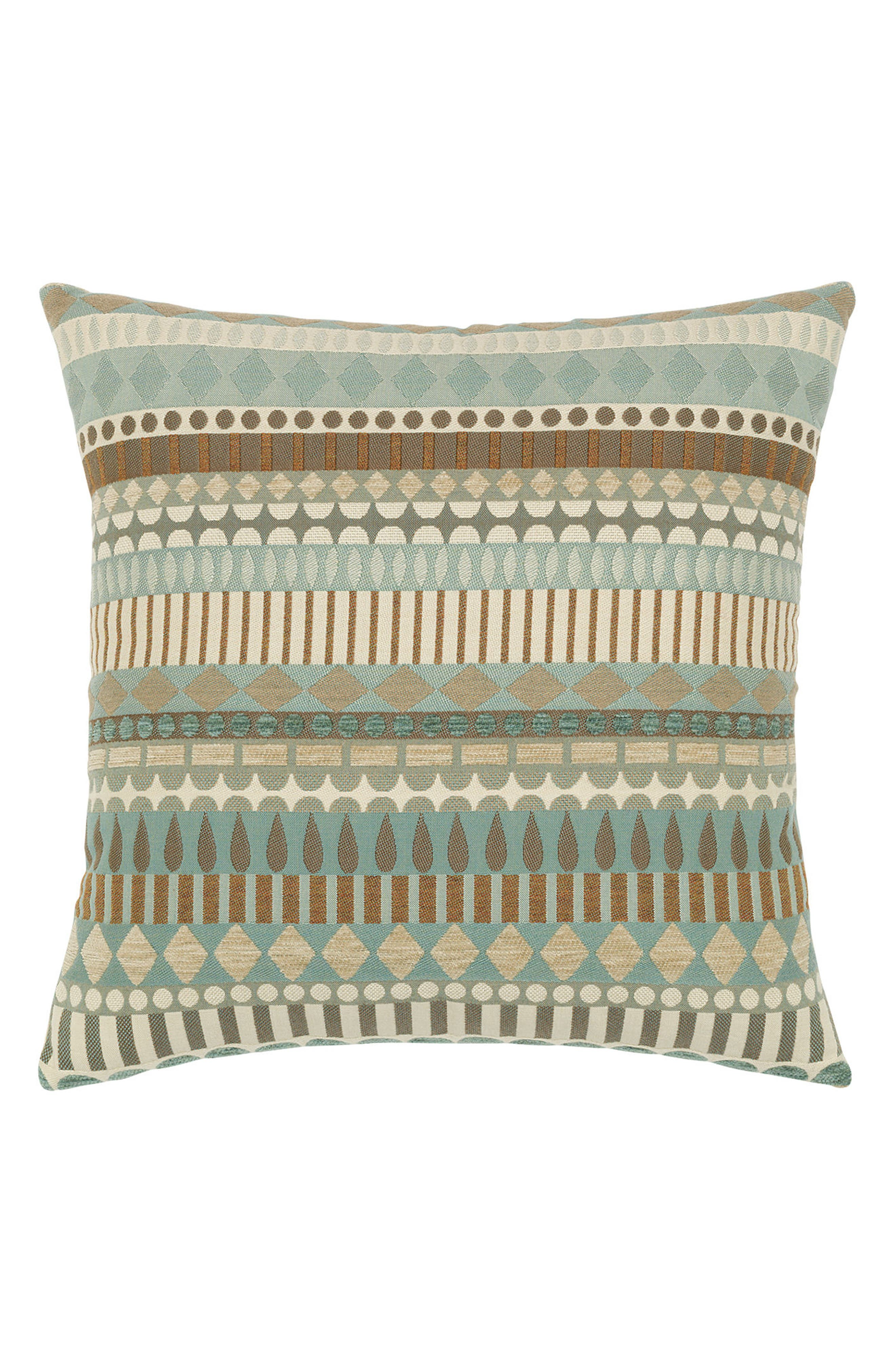 Deco Indoor/Outdoor Accent Pillow,                             Main thumbnail 1, color,                             Blue/ Brown