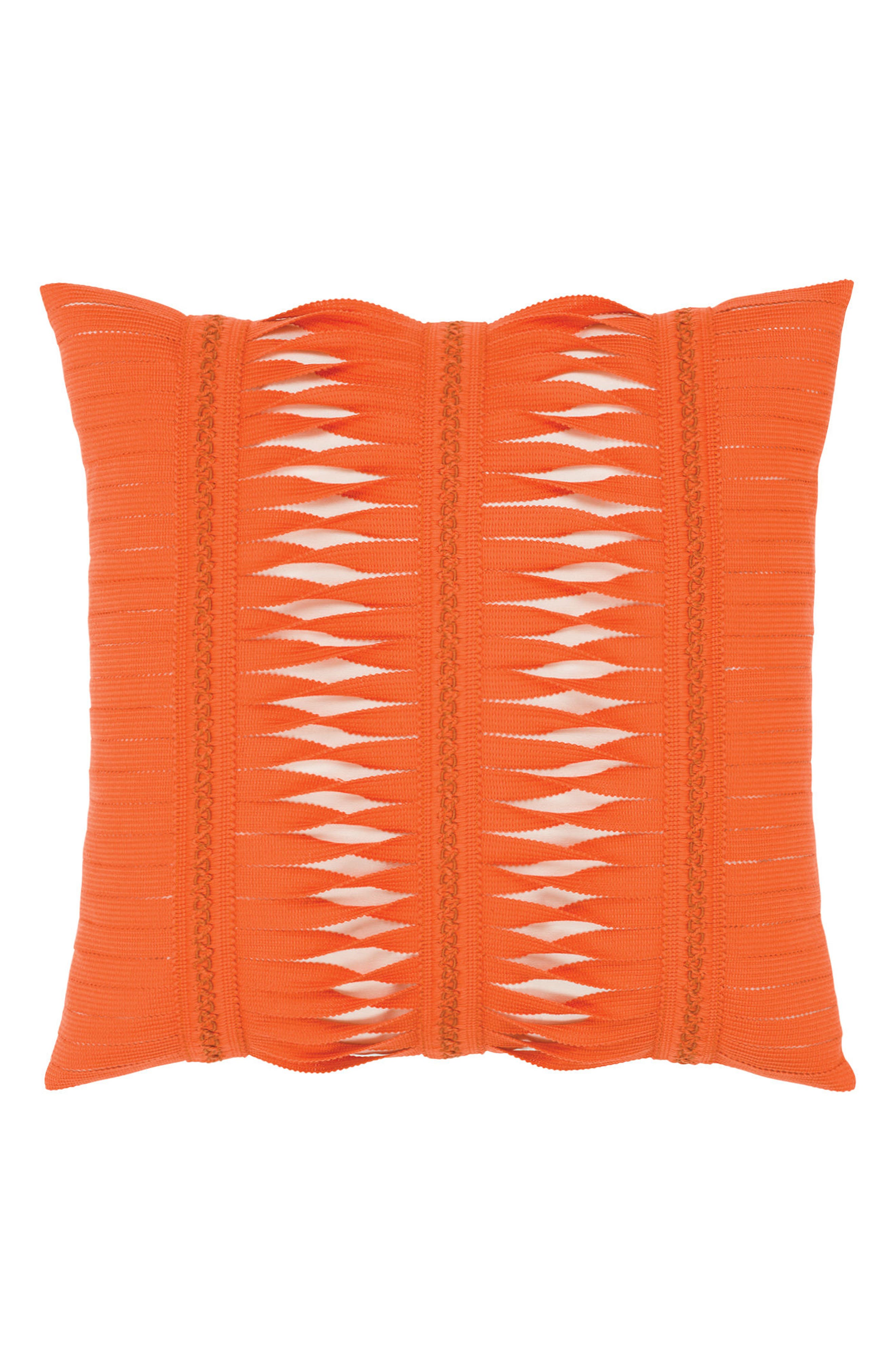 Gladiator Coral Indoor/Outdoor Accent Pillow,                             Main thumbnail 1, color,                             Orange