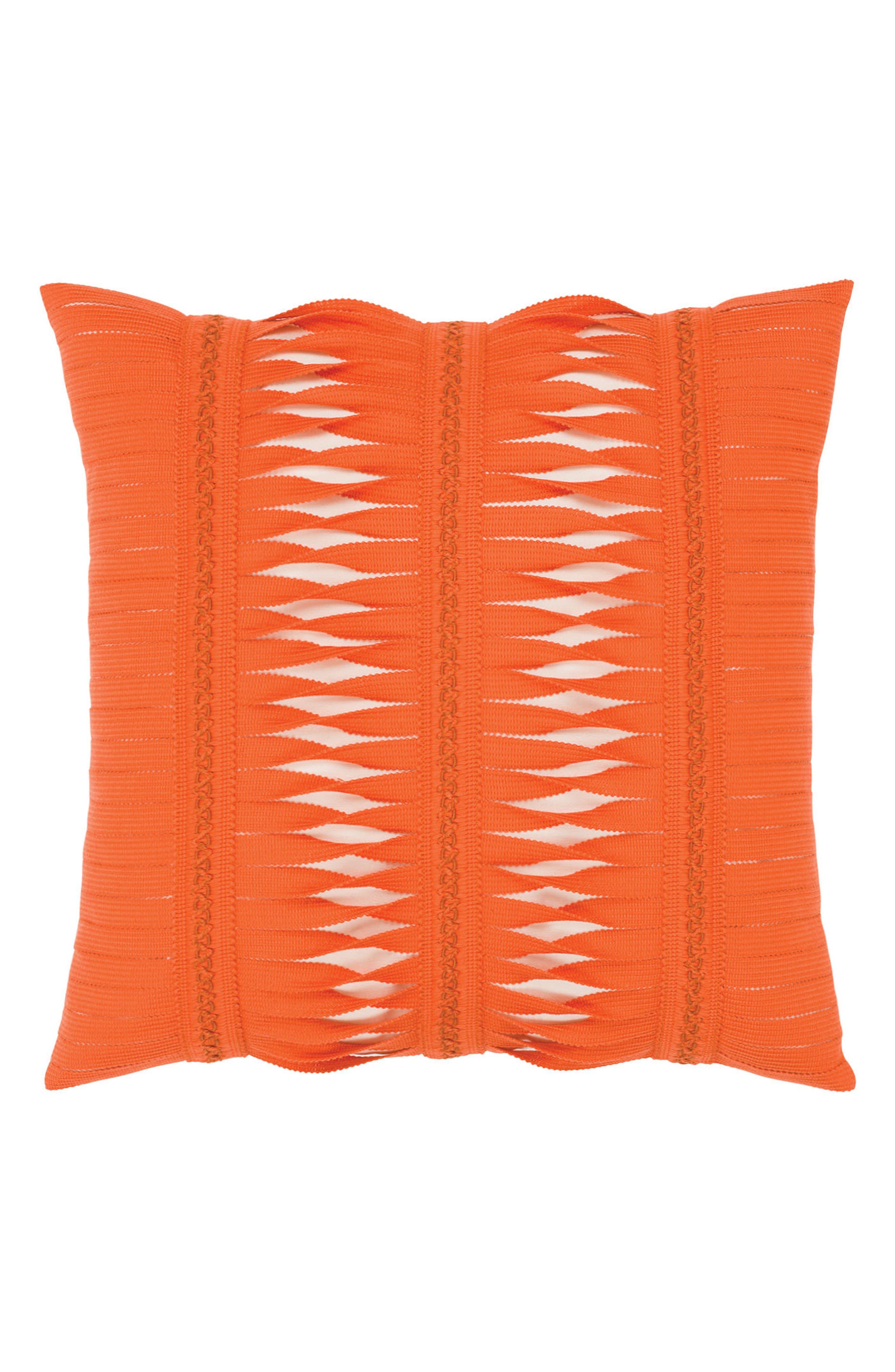 Gladiator Coral Indoor/Outdoor Accent Pillow,                         Main,                         color, Orange