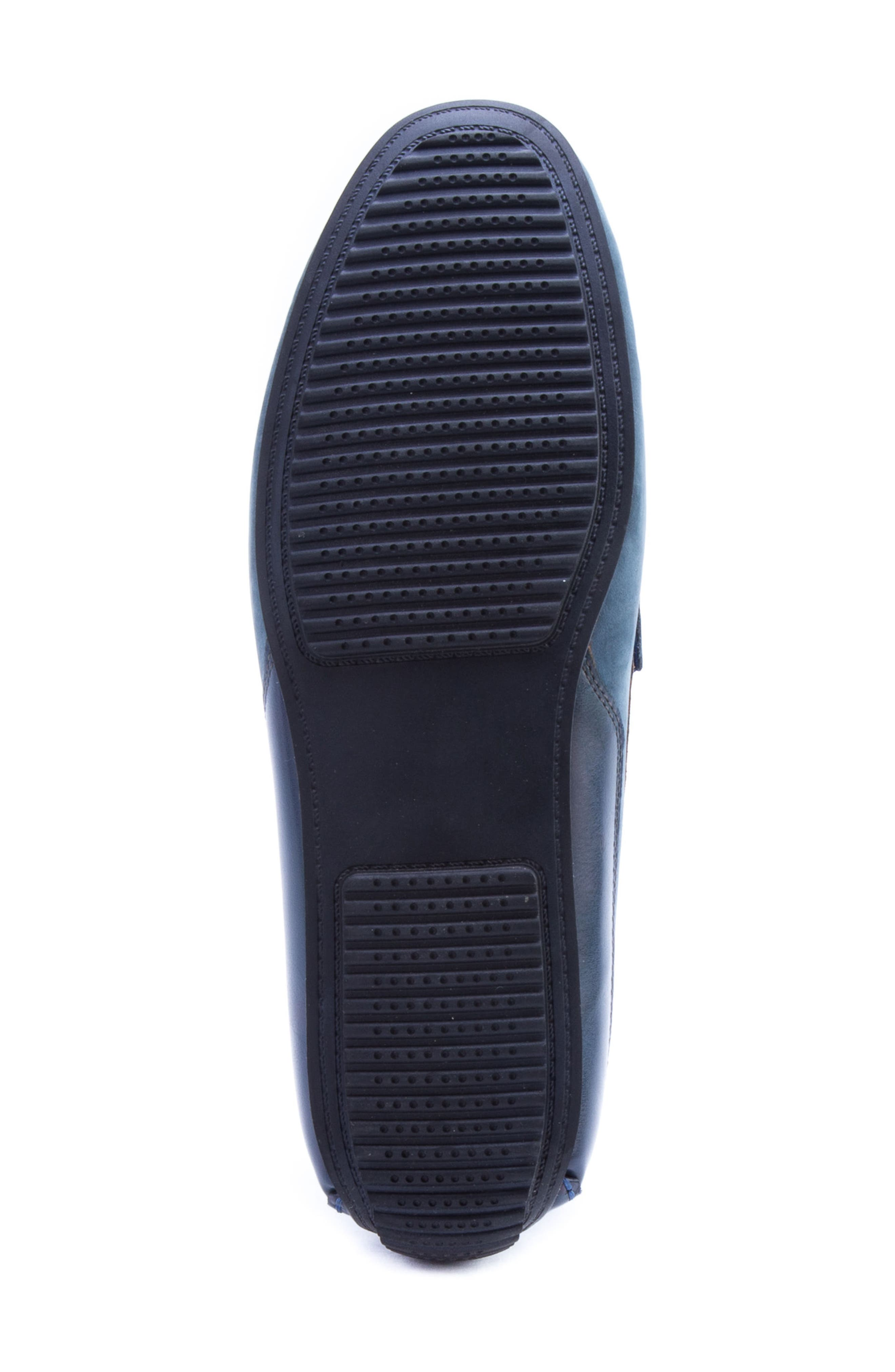Seurat Driving Loafer,                             Alternate thumbnail 6, color,                             Blue Suede/ Leather