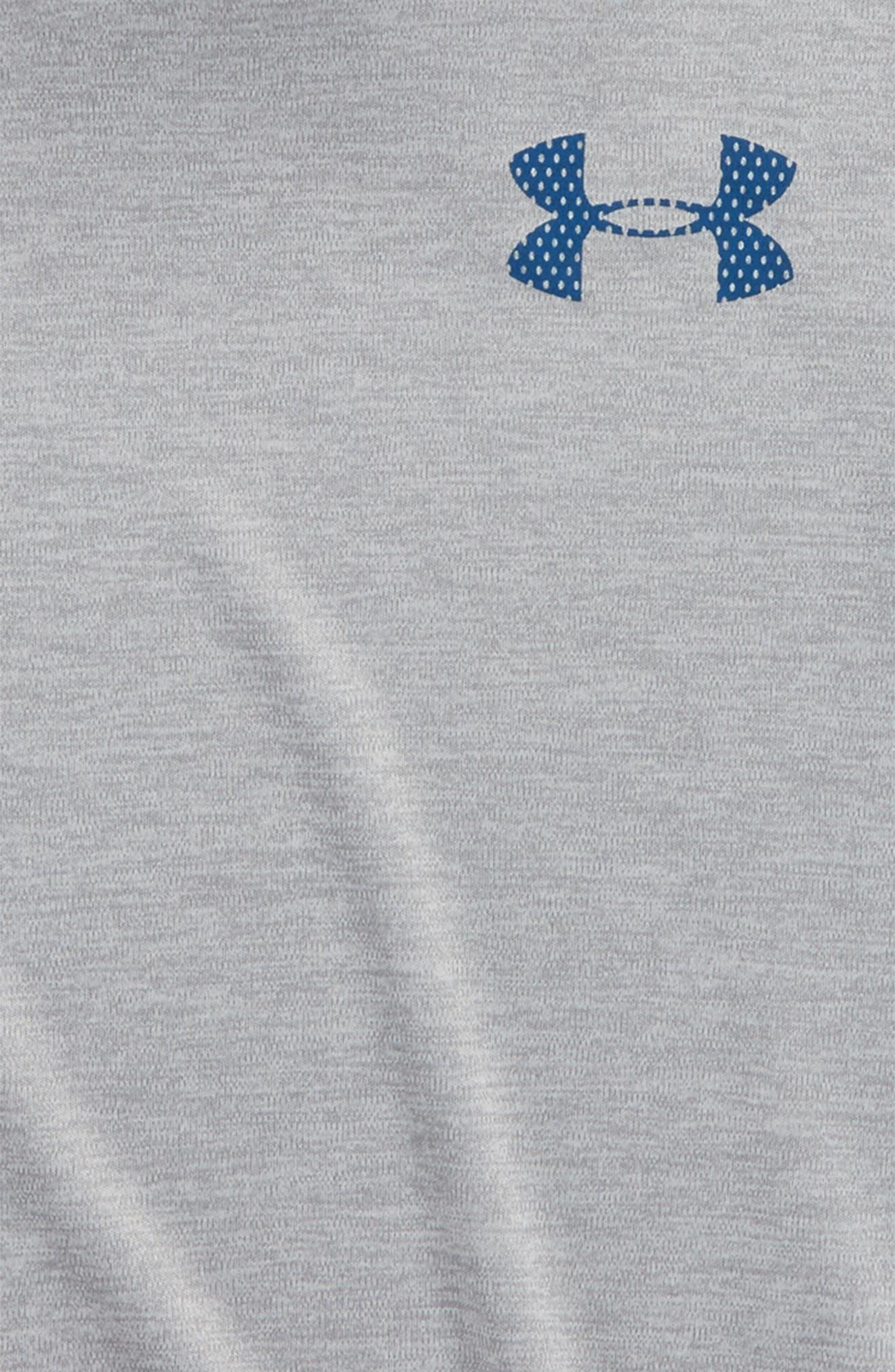HeatGear<sup>®</sup> Hooded T-Shirt,                             Alternate thumbnail 2, color,                             True Grey Heather